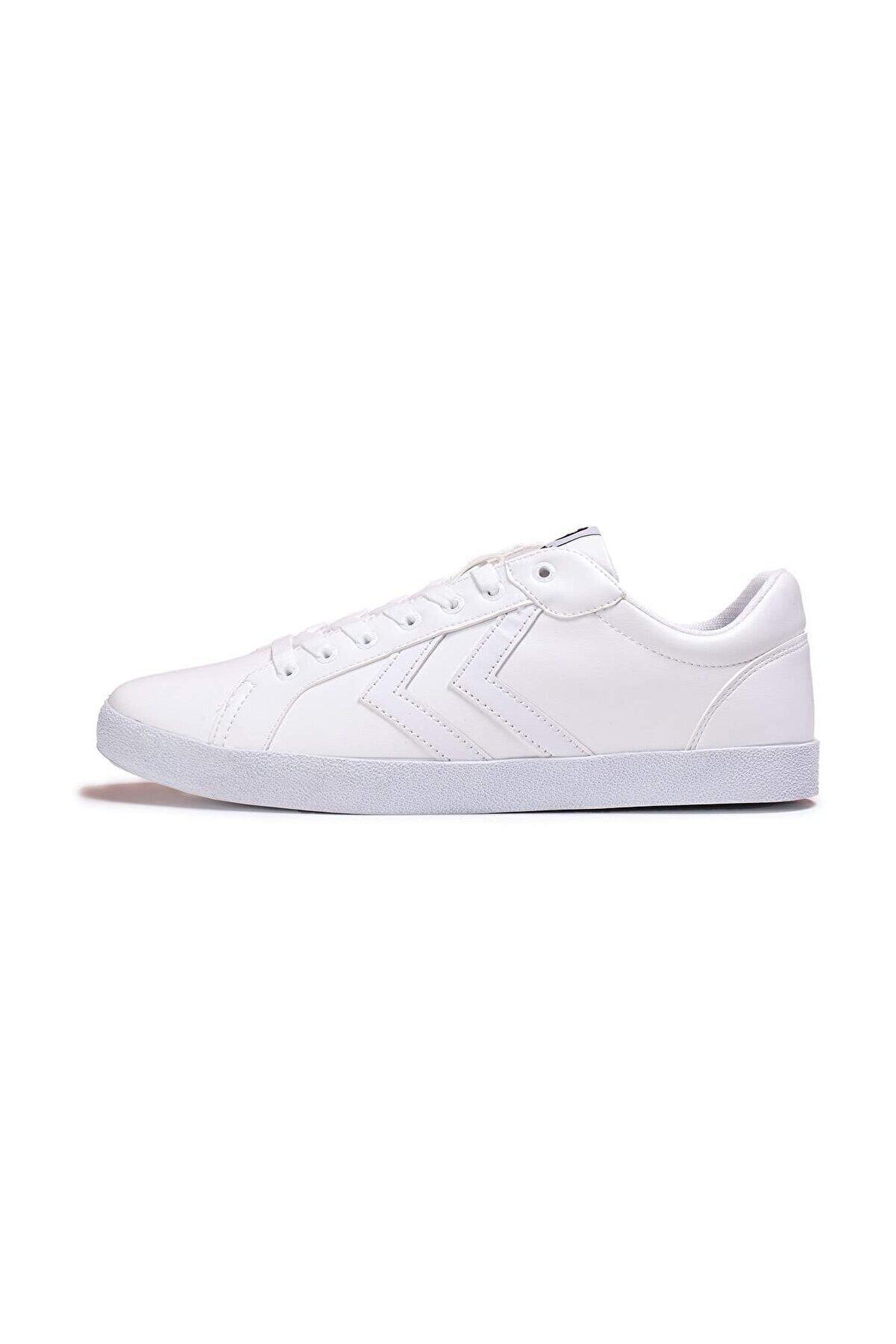HUMMEL Deuce Court Tonal Beyaz Unisex Ayakkabı