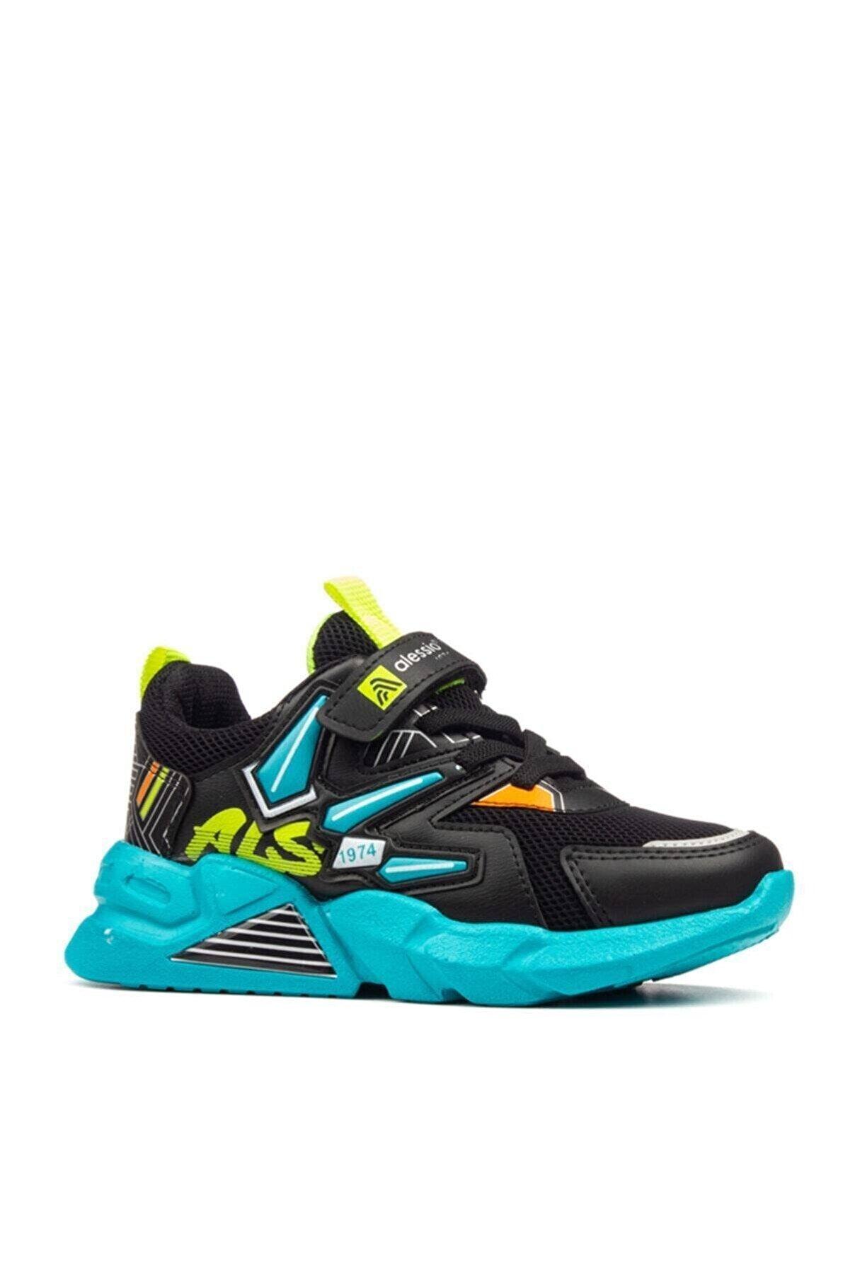 Alessio Çocuk Siyah Günlük Sneaker