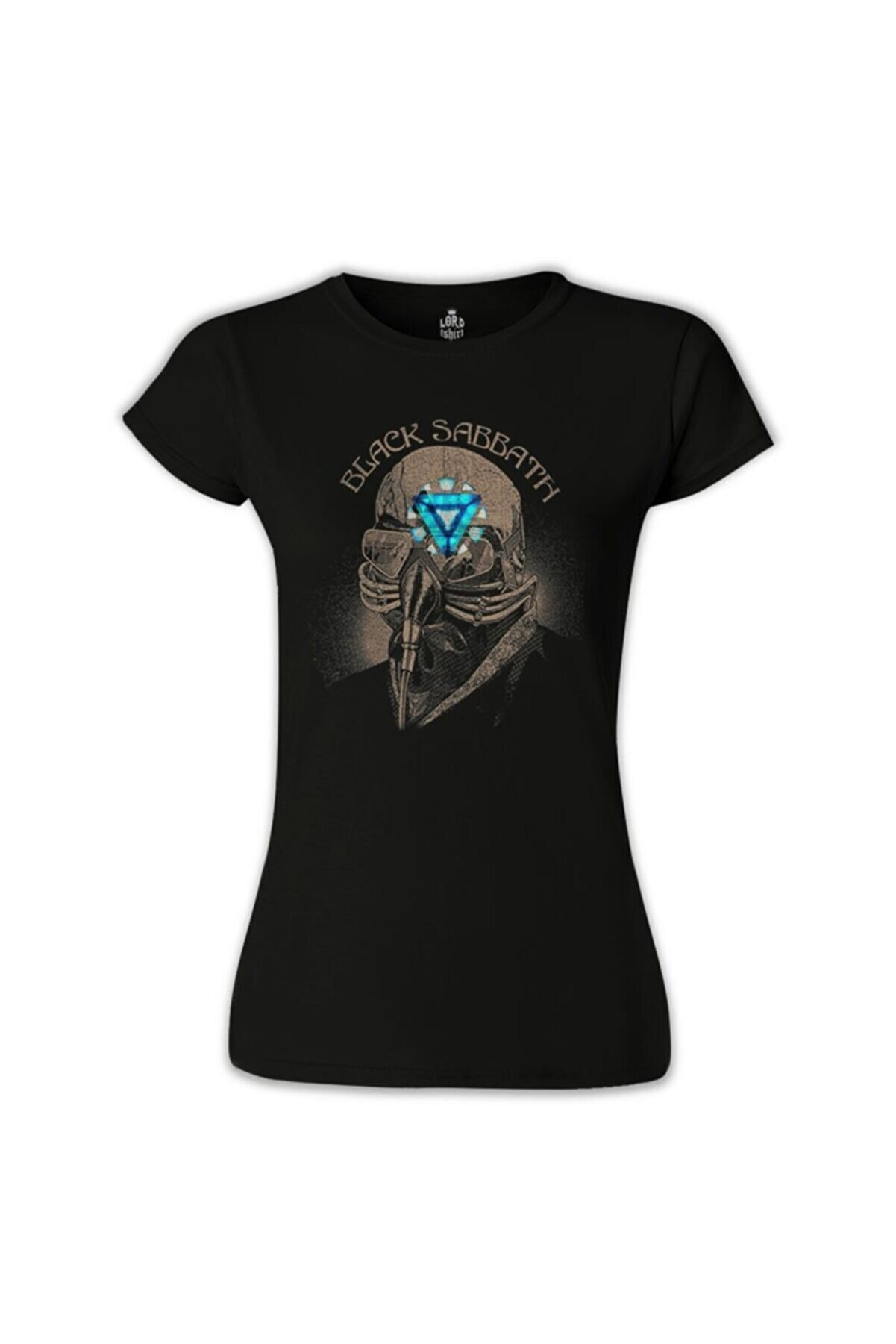 Lord T-Shirt Kadın Siyah Black Sabbath Arc Reactor Tshirt - BS-636