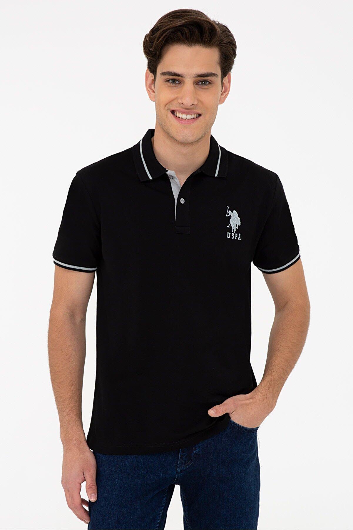 US Polo Assn Sıyah Erkek T-Shirt