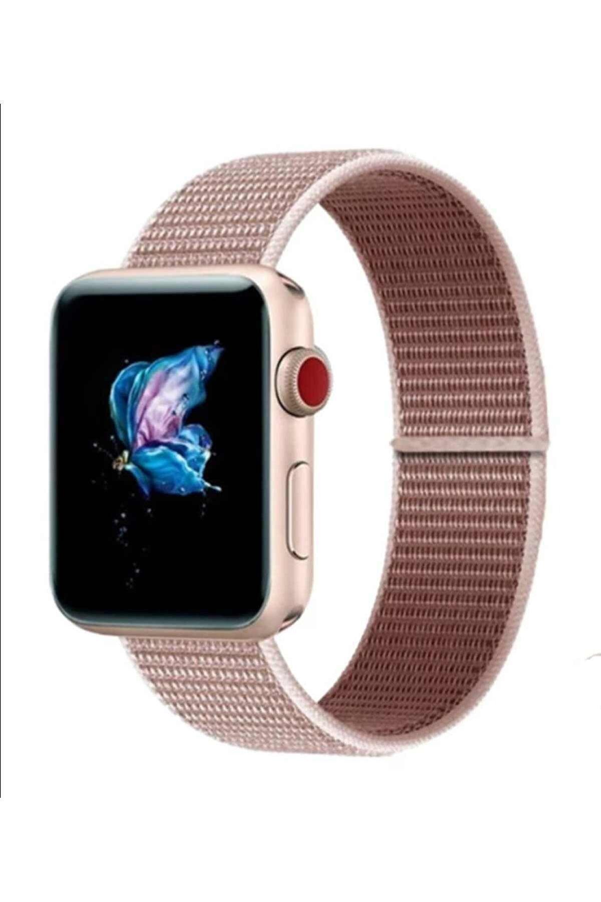 GREGOSS Apple Watch 42-44 Mm 2,3,4,5,6 Se Uyumlu Spor Model Cırtlı Kordon