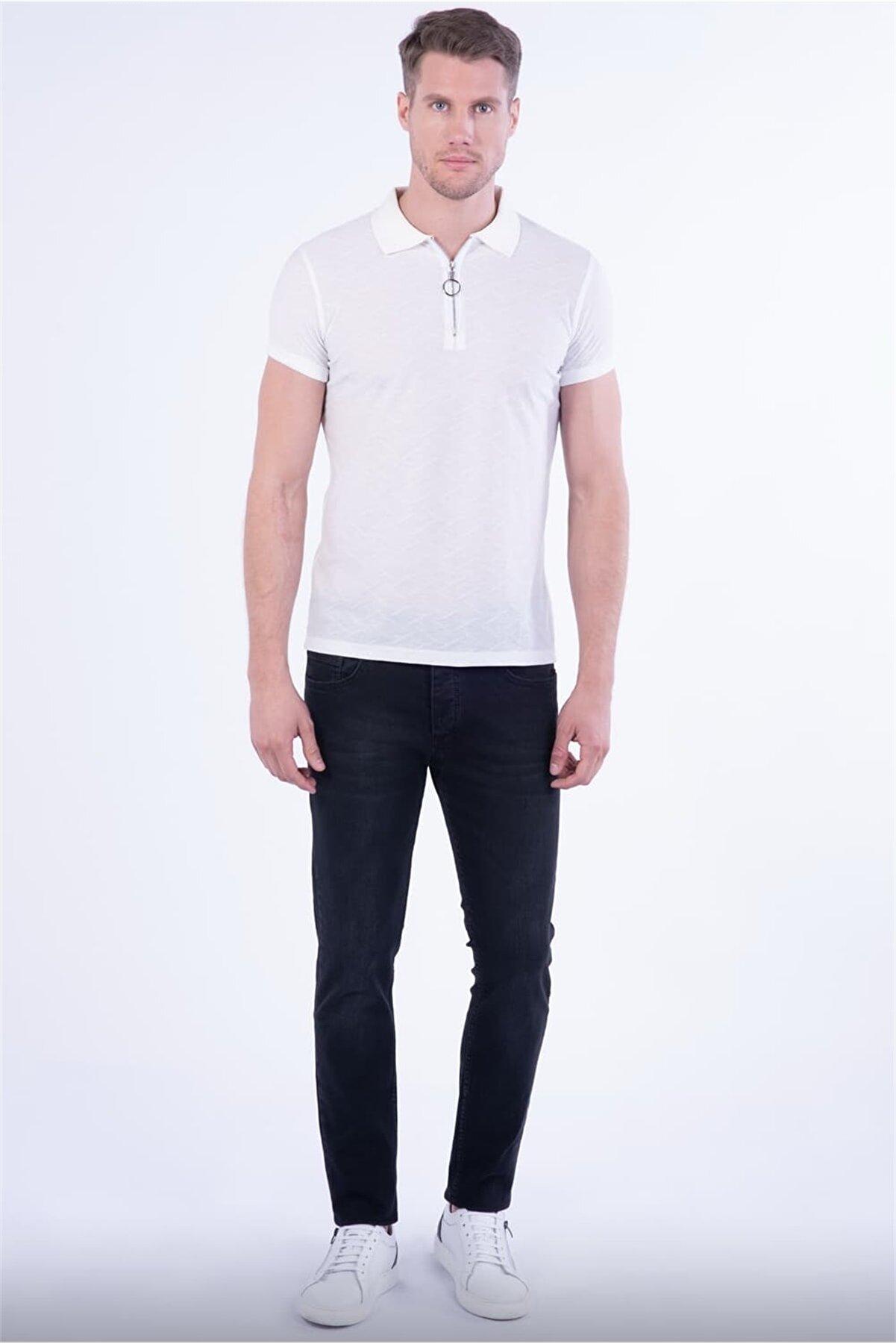 Efor Ts 773 Slim Fit Beyaz Spor T-shirt