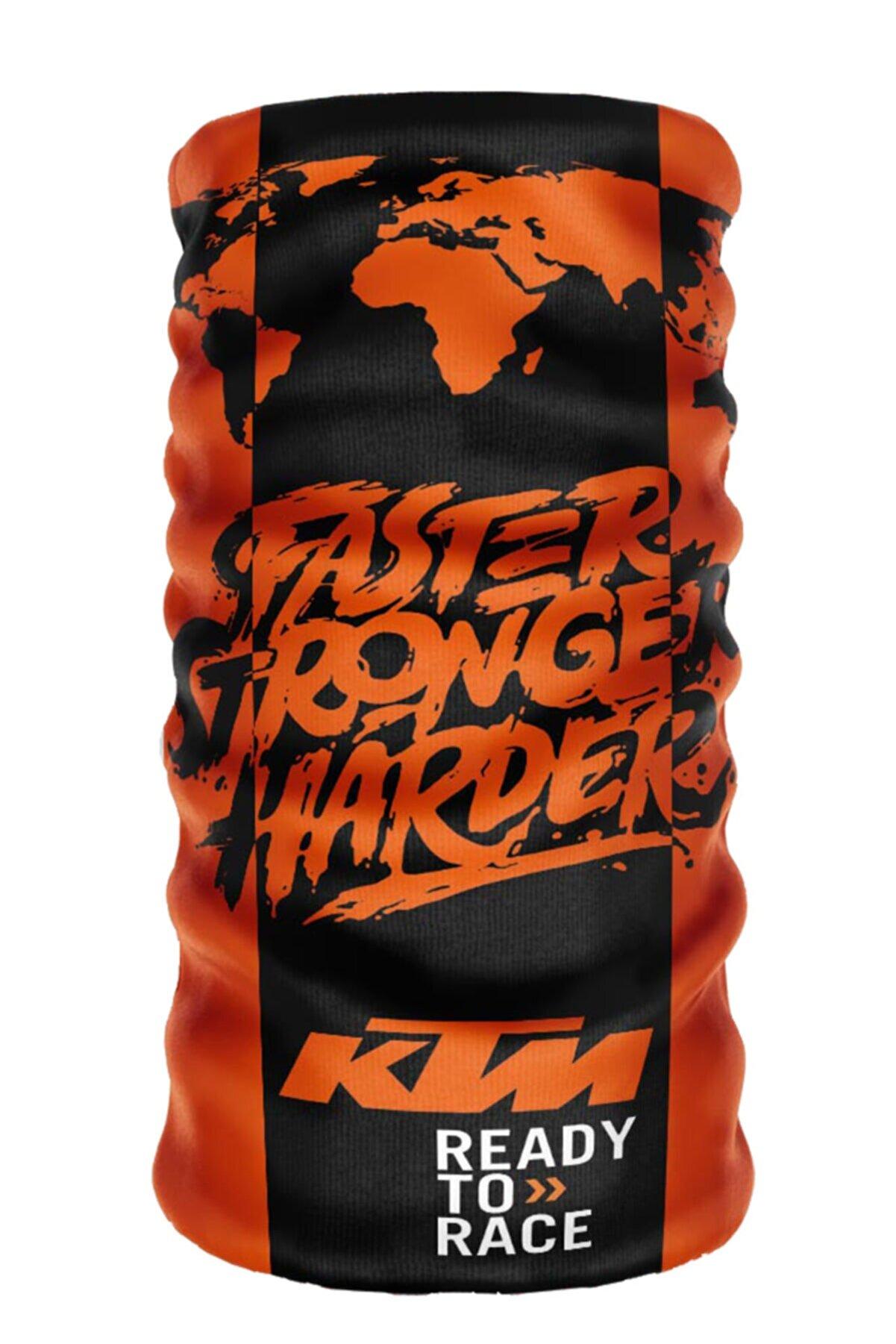 e-Taktik ® Debuff Collar Ktm Faster Stronger Harder Buff Boyunluk Bandana Balaklava