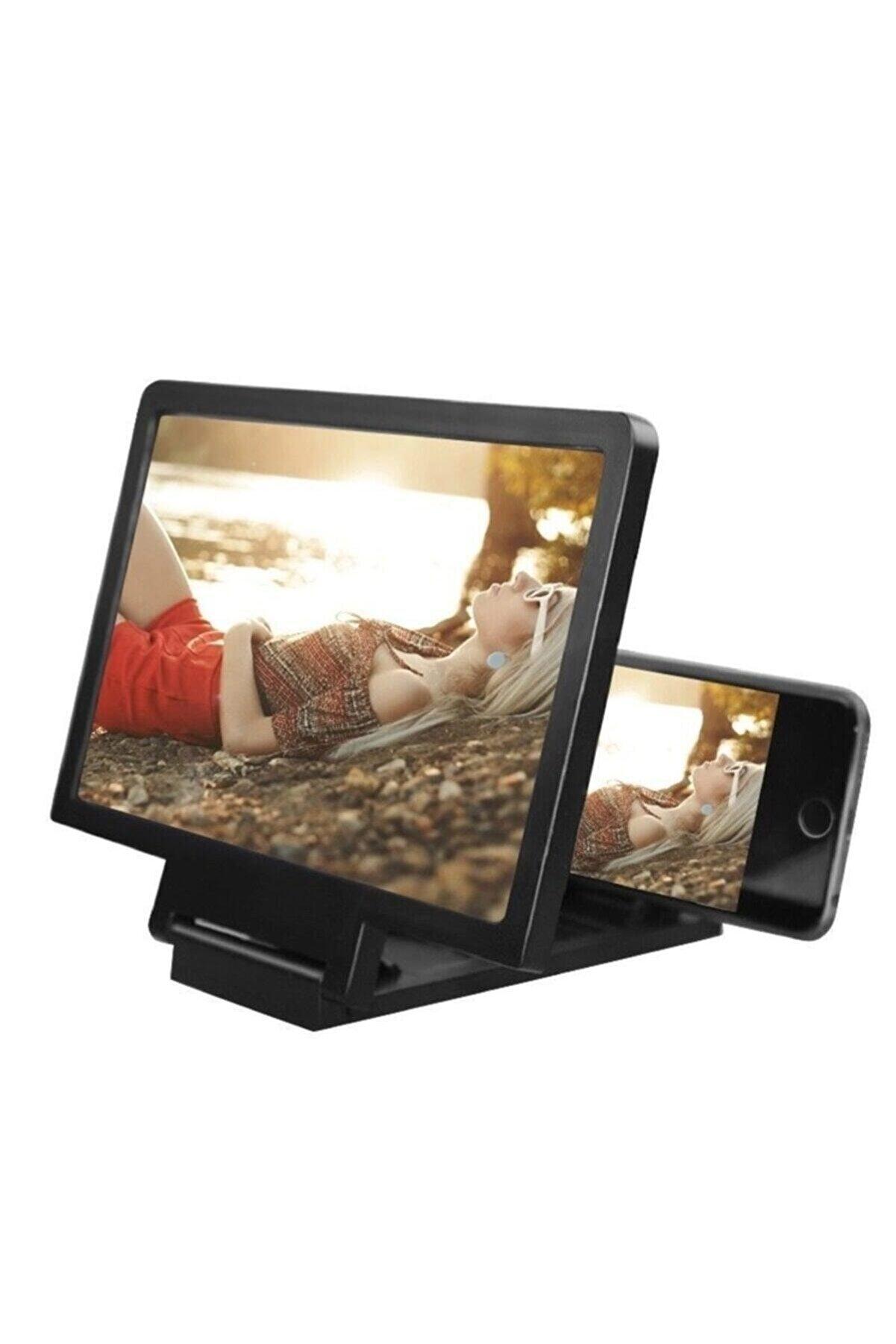 KEYWİN Mi7a Telefon Ekran Büyüteci Görüntü Büyütme Geniş Ekran Video Ekran Büyütücü 3d Büyüteç