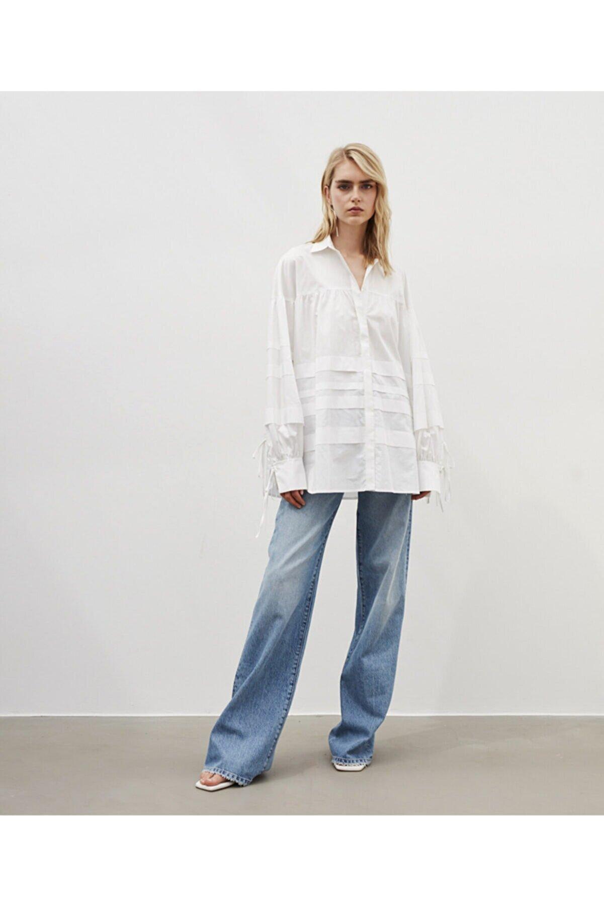 İpekyol Kadın Beyaz Oversize Tunik