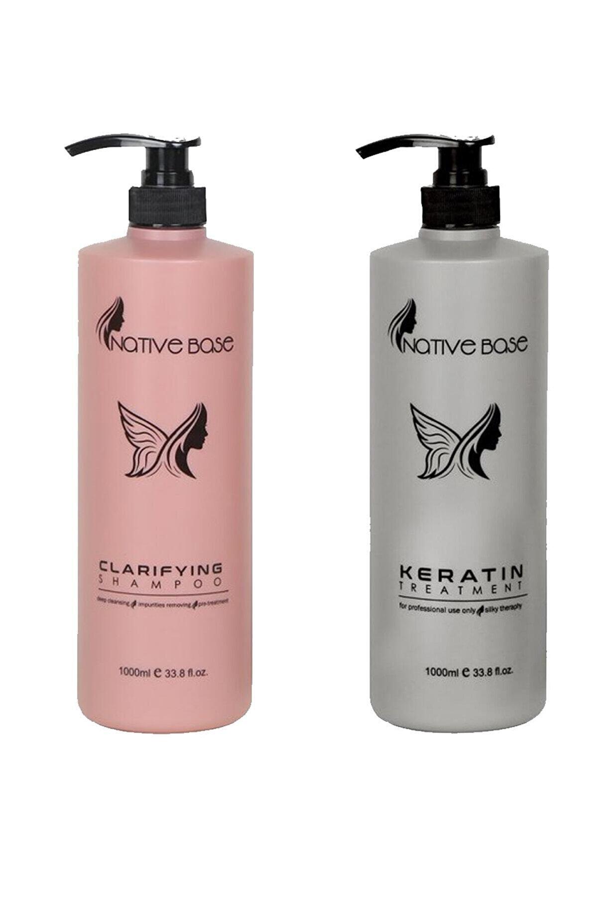 Native Base Keratin Treatment Hindistan Bakım 1000 ml Clarifying Şampuan 1000 ml