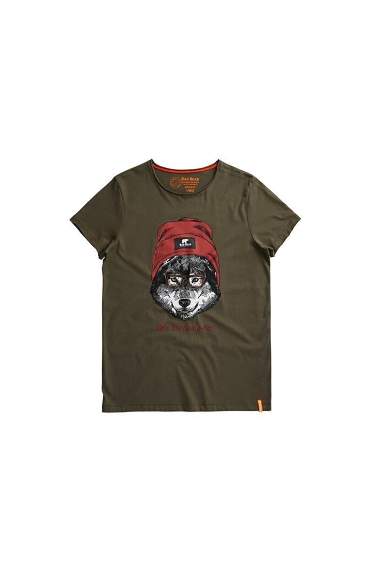 Bad Bear Haki Erkek Tişört RED HOOD TEE KHAKI