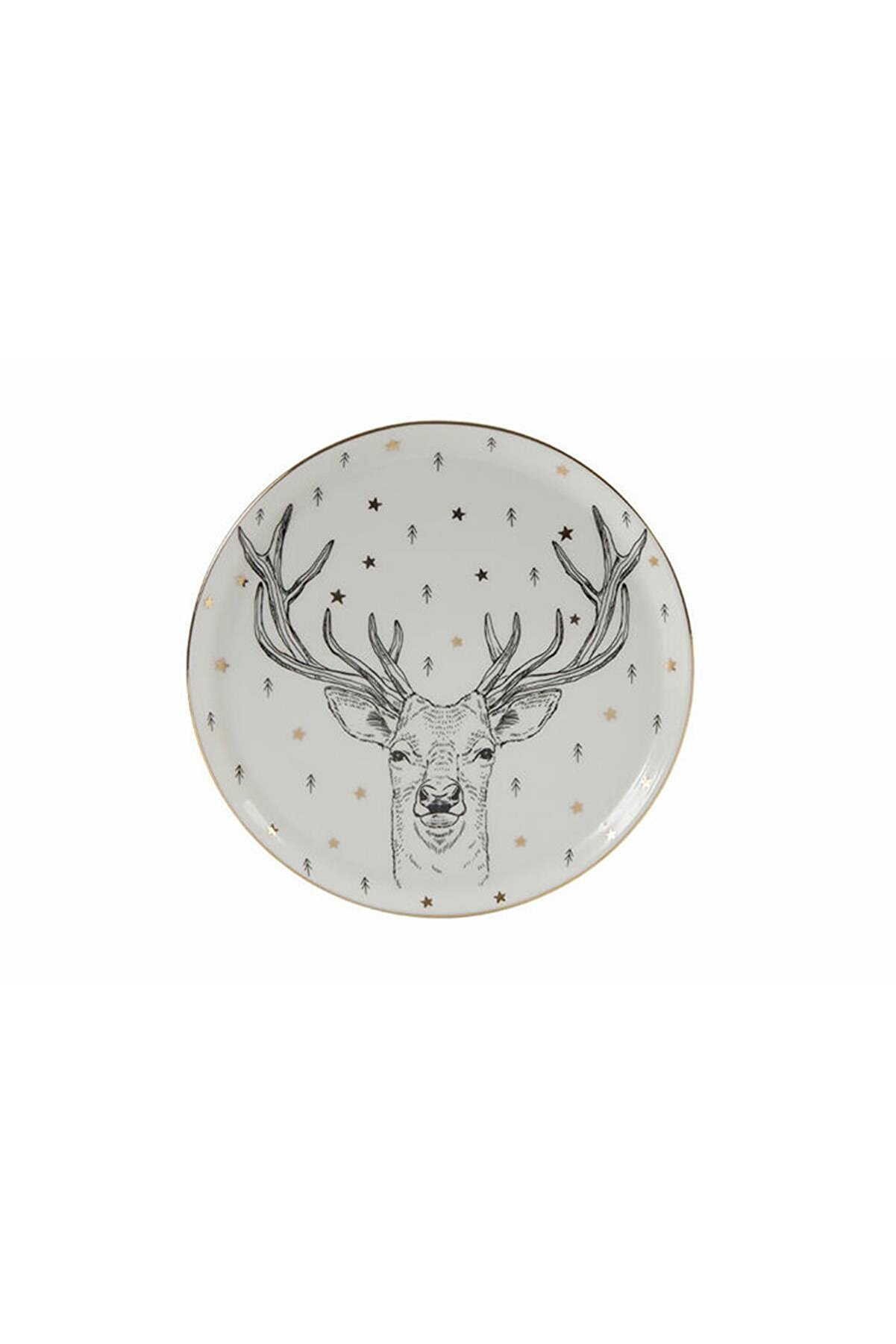 Porland Lfh Forest Deer Düz Tabak 20 Cm