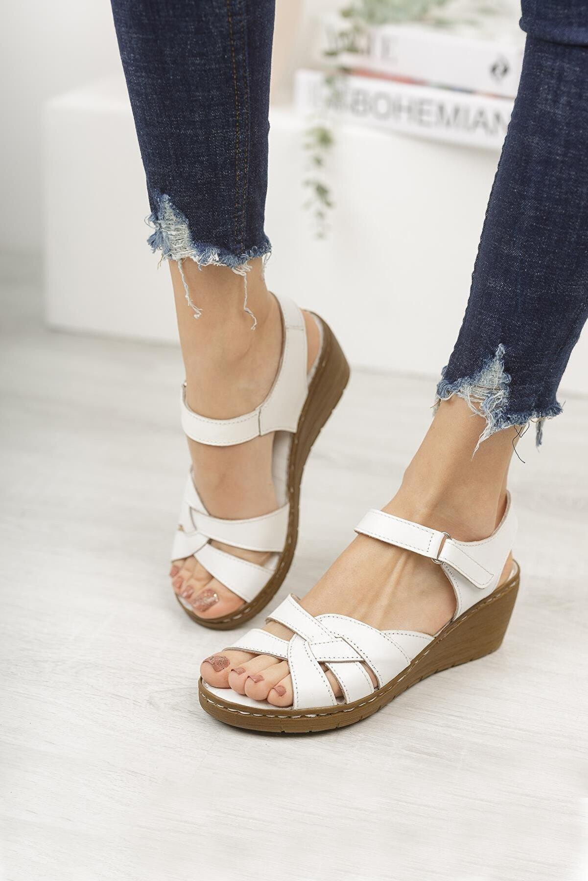 Diego Carlotti Hakiki Deri Kadın Günlük Sandalet