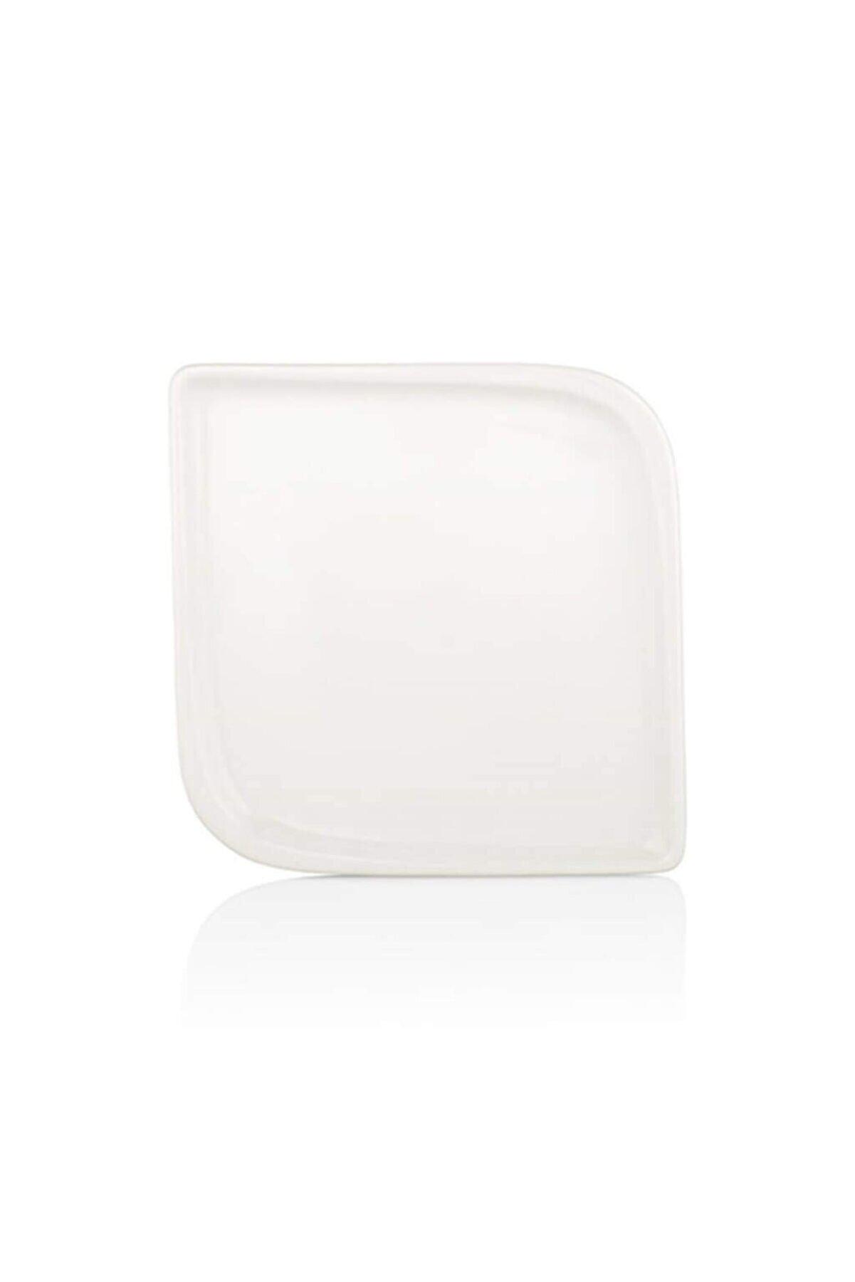 Sima Arel 20 Cm Kare Tabak-beyaz Porselen 12 Adet