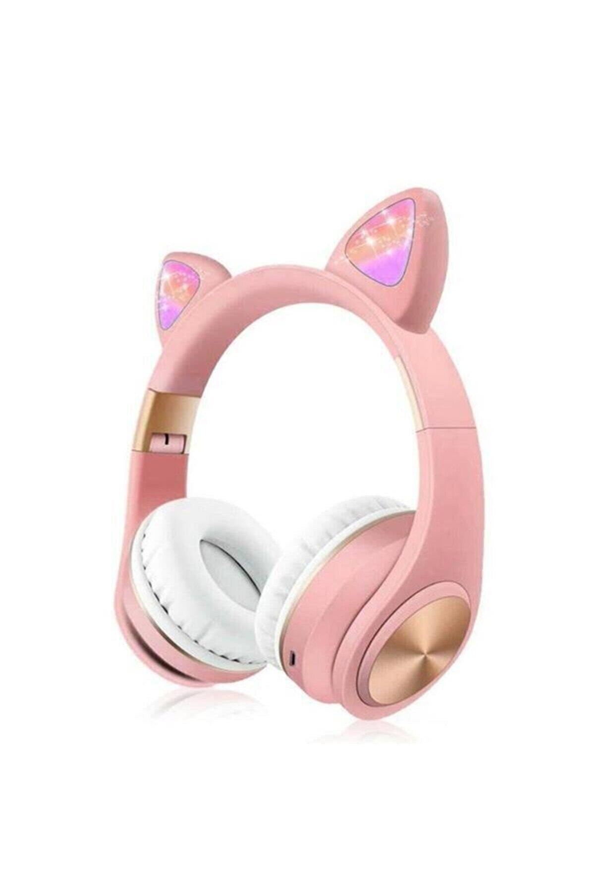 Syrox Budi Kablosuz Bluetooth Kedi Kulaklık Stereo Yüksek Ses Akıllı Renkli Led P68m