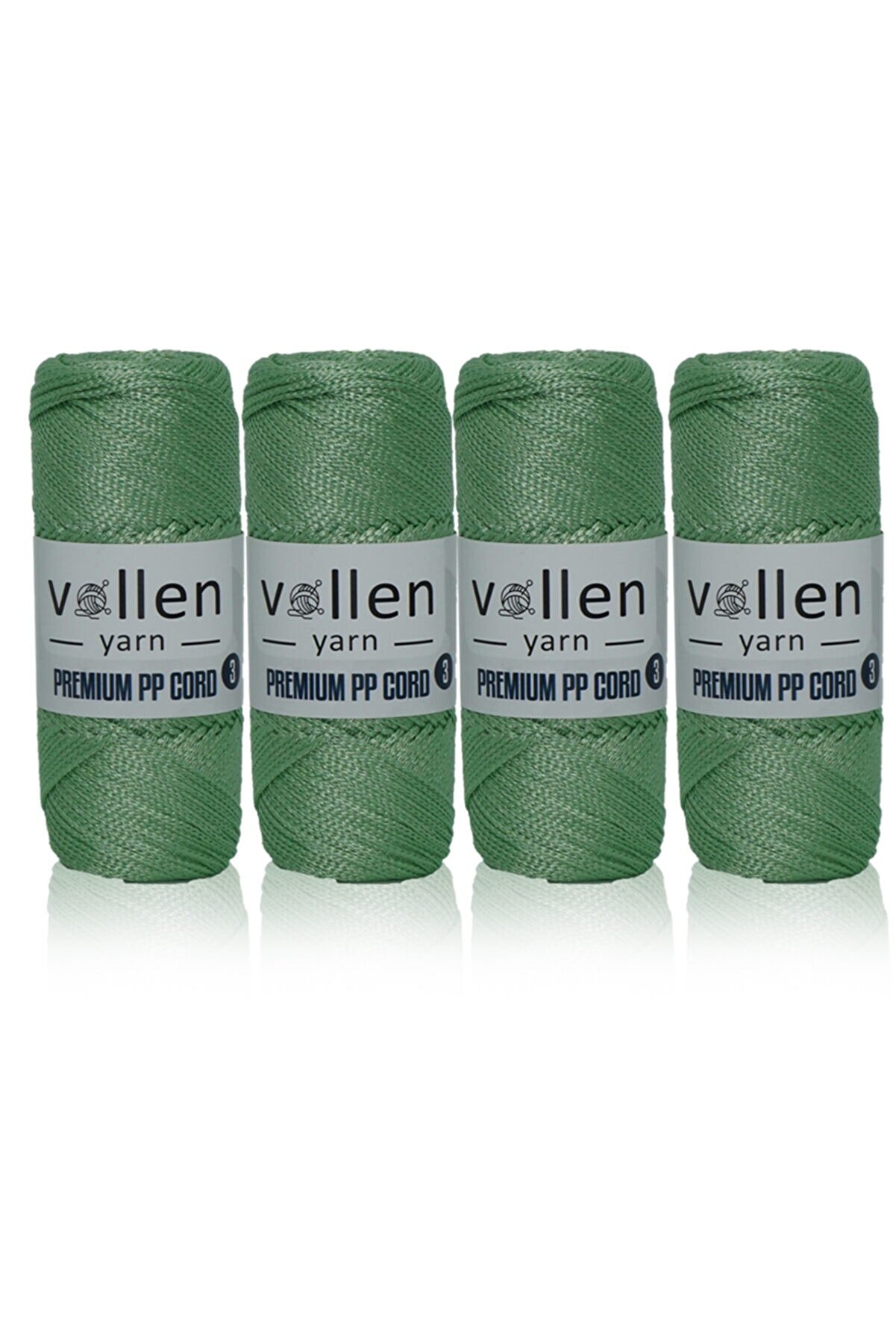 vollen yarn Makrome Polyester Hobi İpi 400gram 600metre 3mm (4 adet)