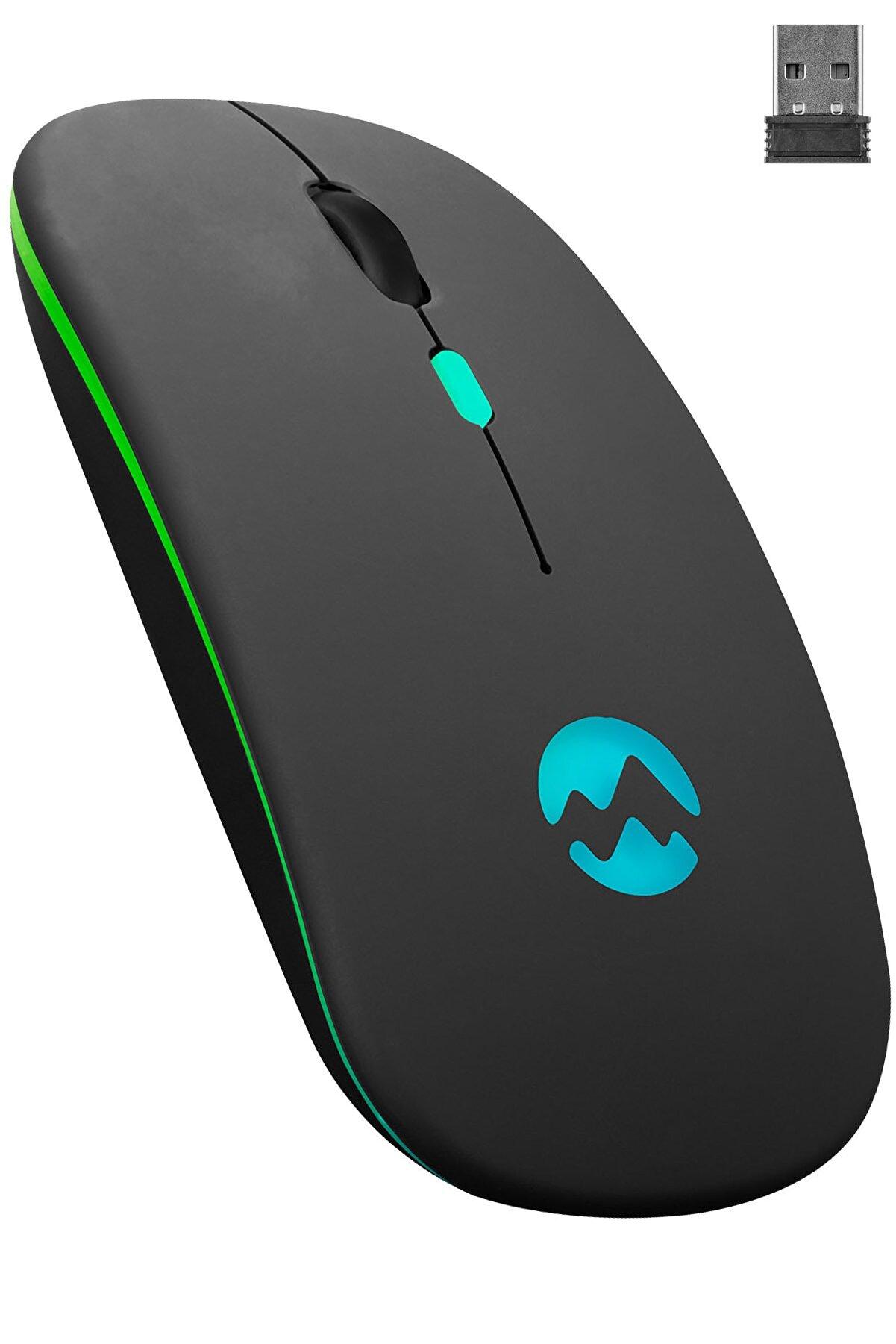 Everest Smw-710 Usb 2.4ghz Siyah Ledli 800/1200/1600dpi Şarjlı Kablosuz Mouse