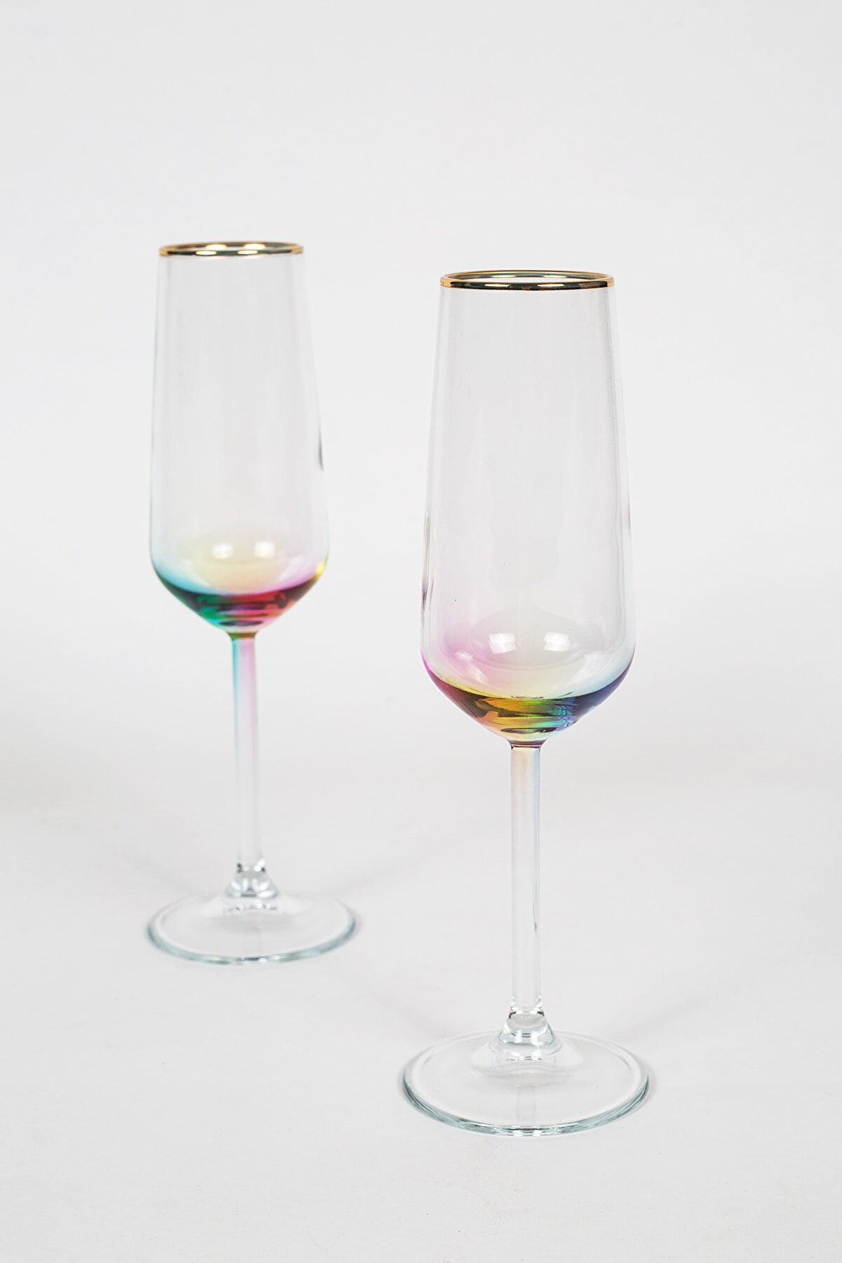 Rakle Rainbow 2'li Şampanya Kadehi Seti 195 Cc