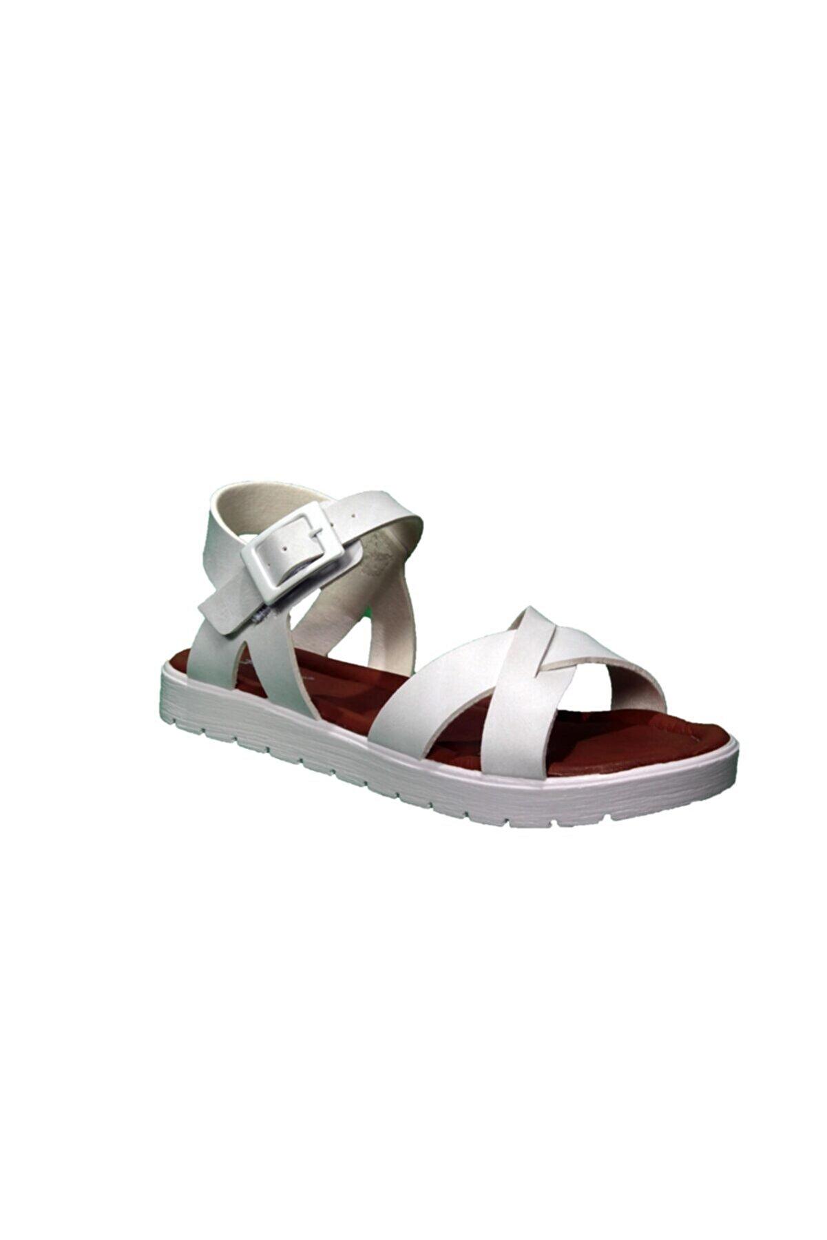 Polaris 91.508159.F Beyaz Kız Çocuk Sandalet 100380034