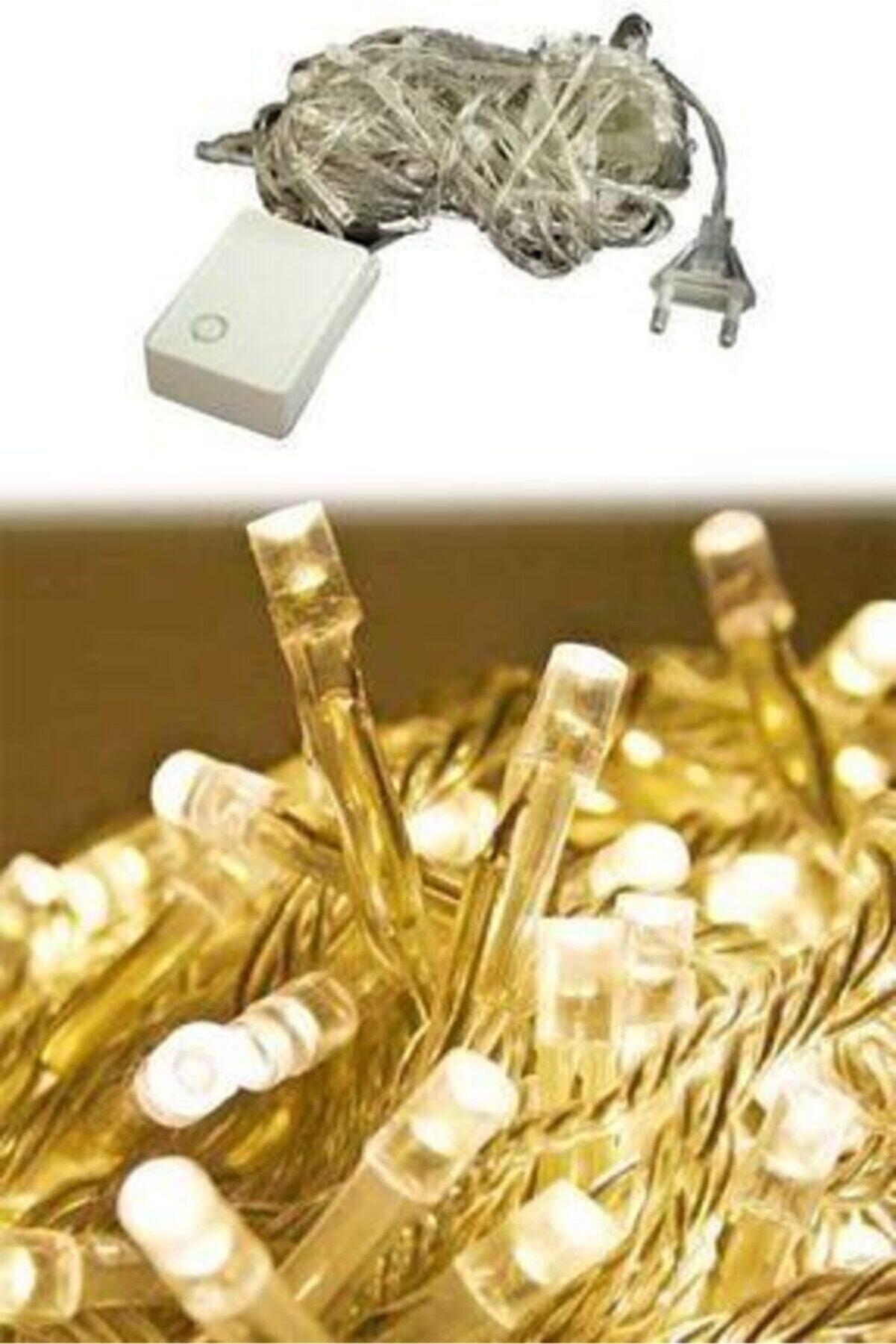 ALİTECH Kozmoparti 100 Ledli Fişli Led, Dekor Lambası 10m Günışığı Yılbaşı Ağacı Işığı 10m Fişli Led