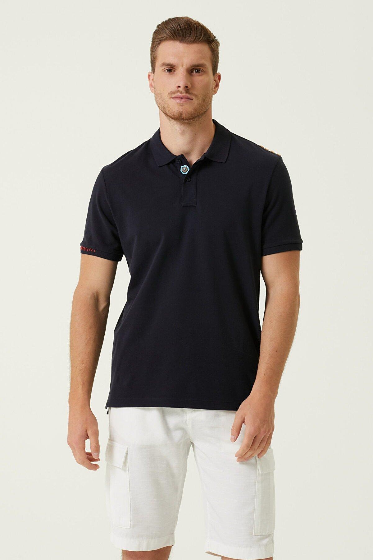 Network Erkek Comfort Fit Lacivert Polo Yaka T-shirt 1078122
