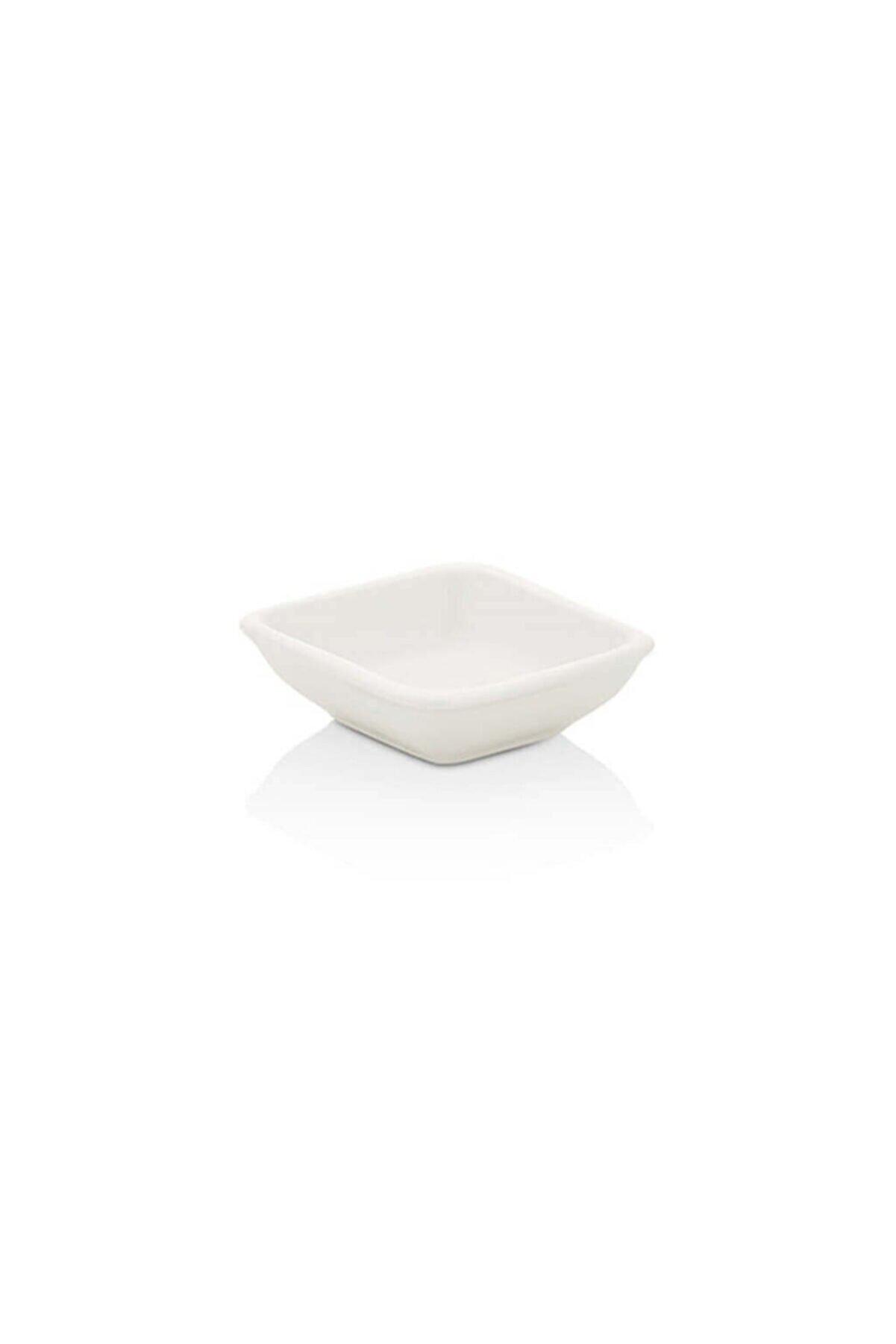 Sima Arel 13 Cm Kare Kase-beyaz Porselen 24 Adet