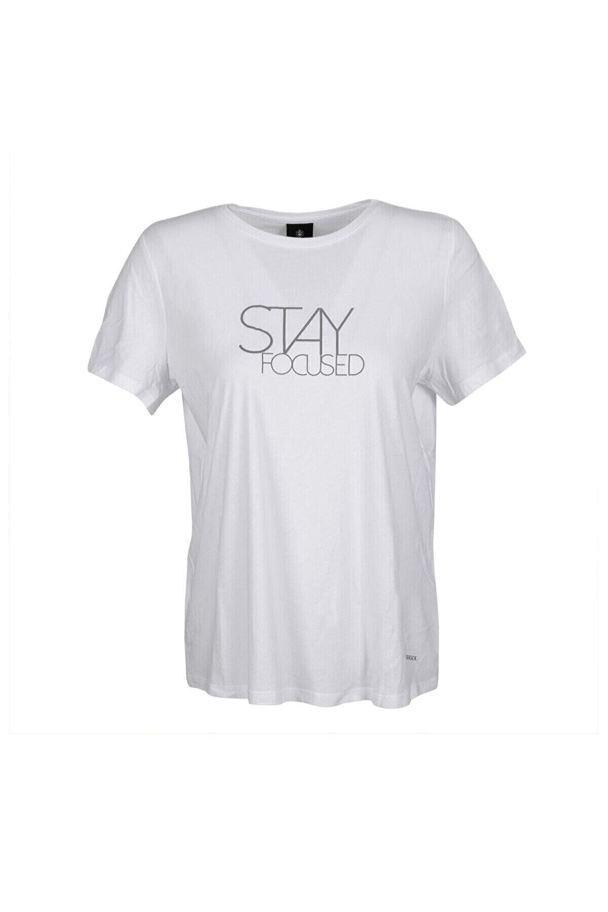 Lumberjack CT390 MILA SLOGAN T-SHIRT Beyaz Kadın T-Shirt 100584157