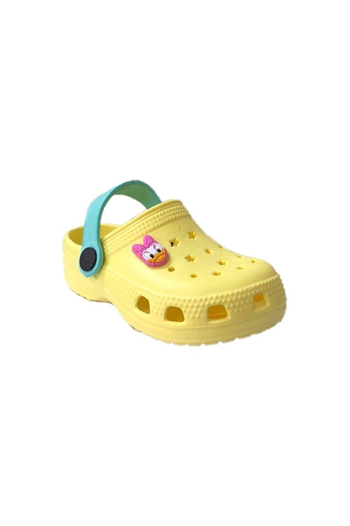 Akınalbella Çocuk Sarı Ördek Havuz Deniz Terlik Sandalet E012