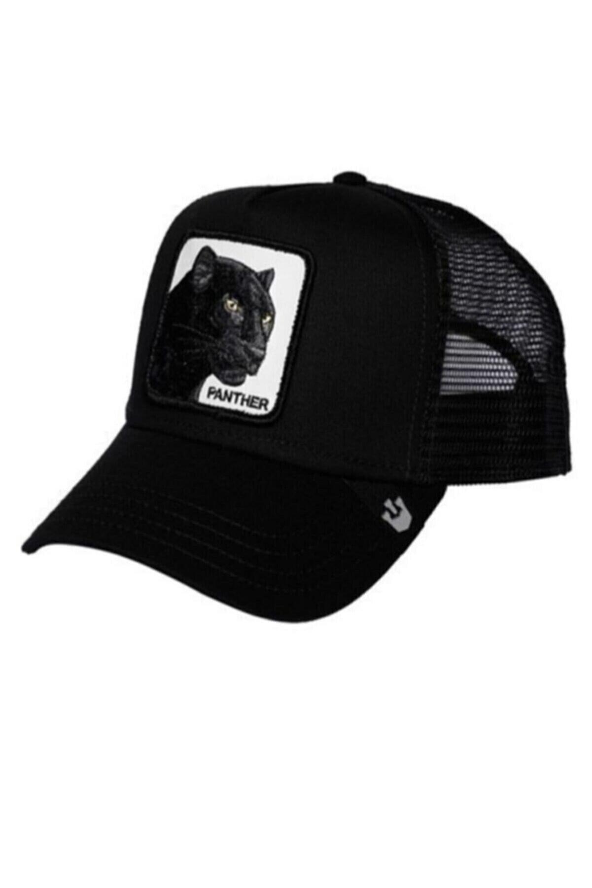 MaviMoure Unisex Siyah Hayvan Figürlü Şapka