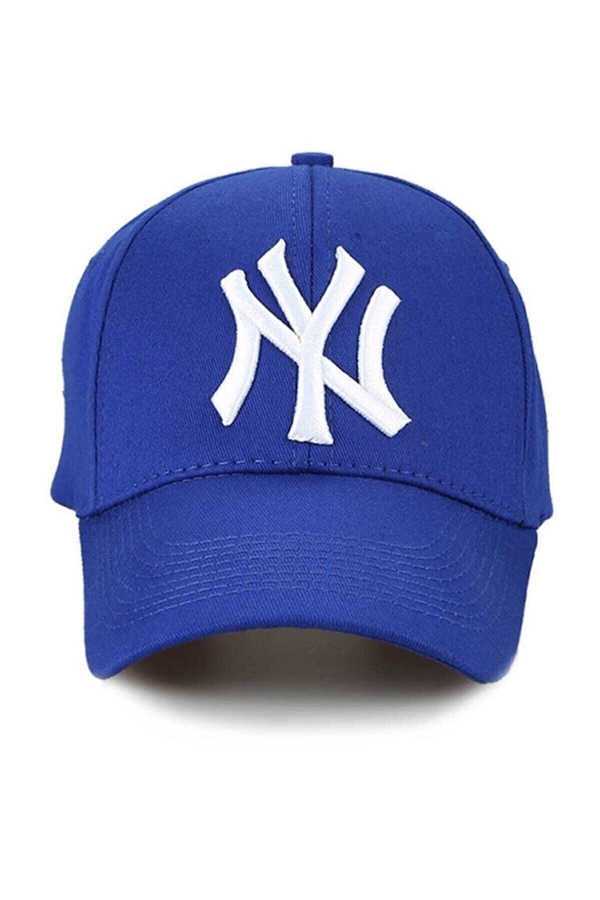 NuxFah Ny New York Şapka Unisex Saks Mavi Şapka