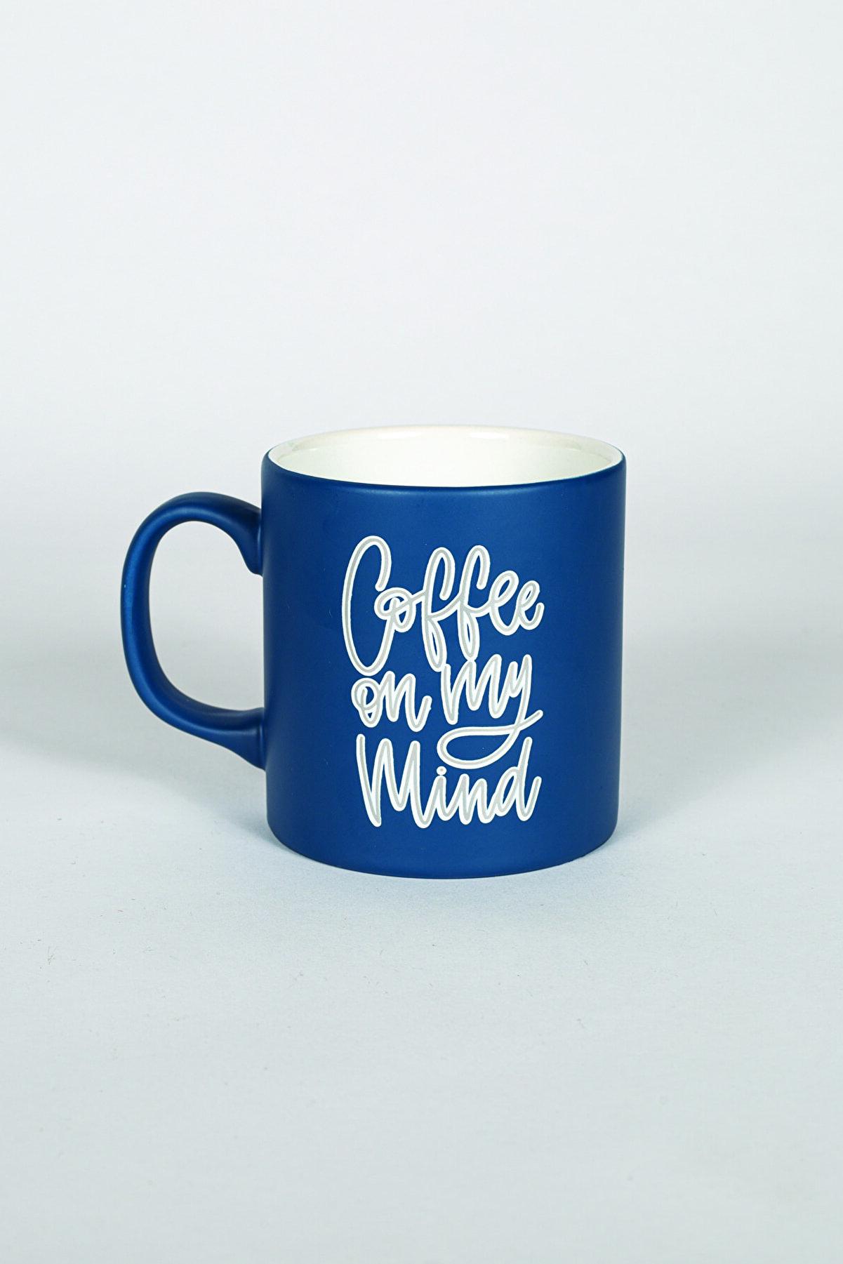 Rakle Coffee Kupa Bardak Lacivert 320 Cc