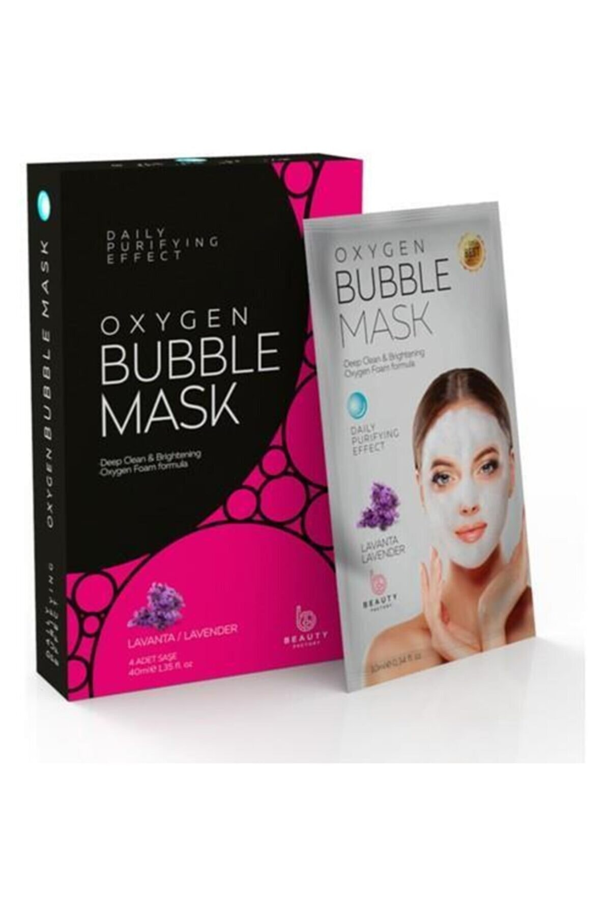 Oxygen 4x10g Köpüren Maske Bubble Mask Lavanta