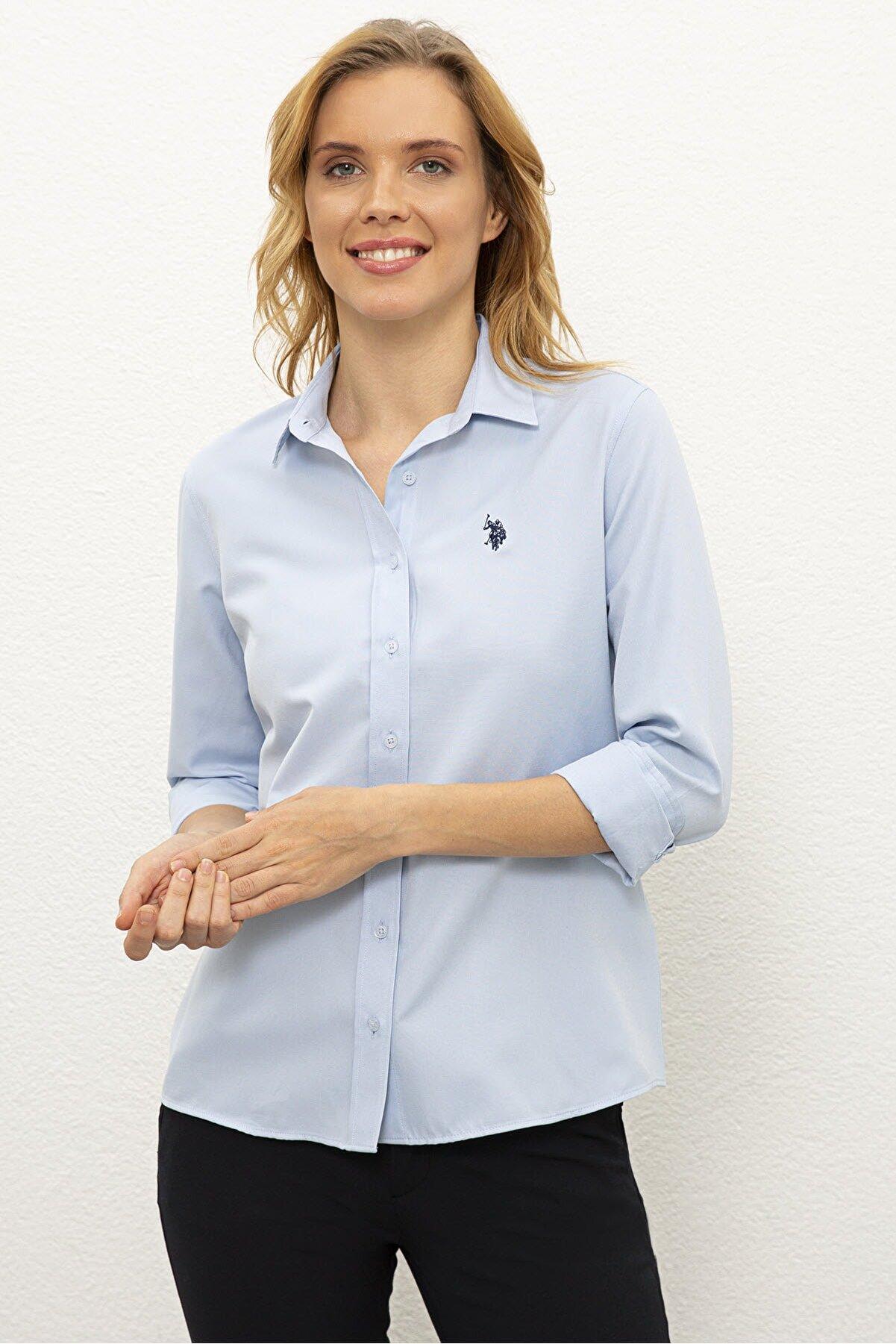 US Polo Assn Mavı Kadın Gömlek