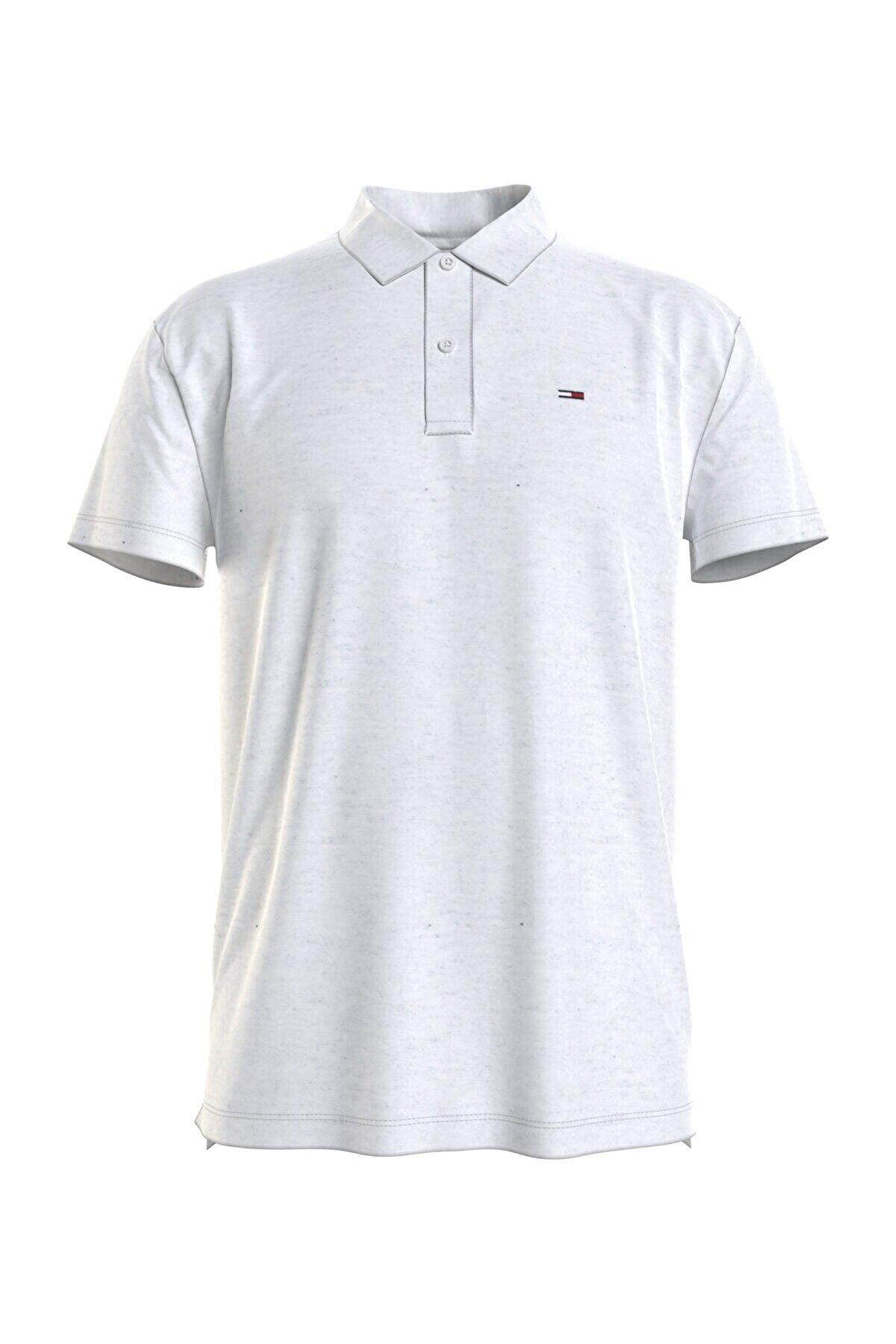 Tommy Hilfiger Erkek Beyaz Polo Yaka T-Shirt Tjm Essential Jersey Polo DM0DM10322