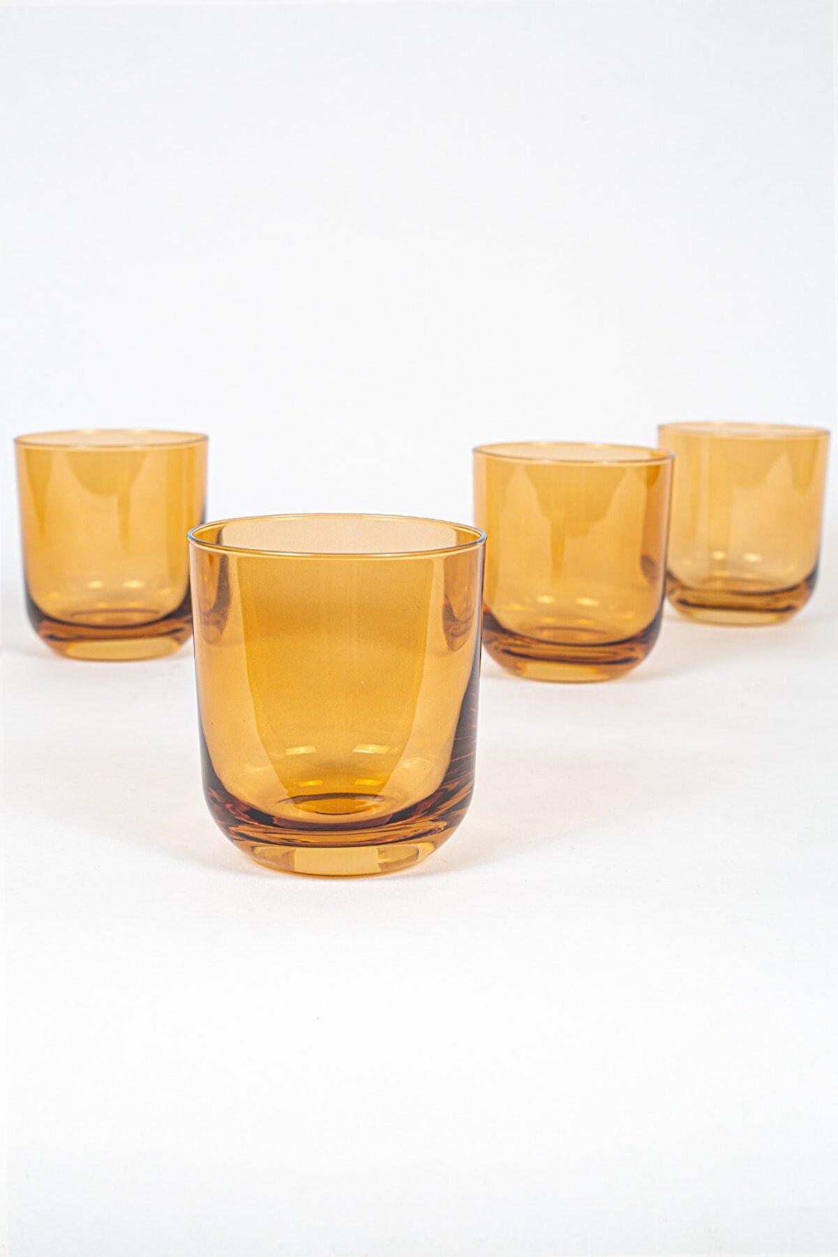 Rakle Intense 4'lü Su Bardağı Seti Amber 300 Cc