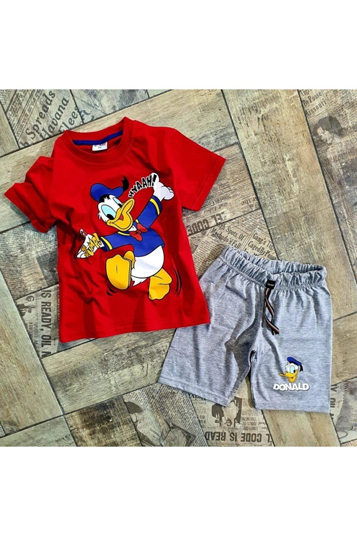 HediyeBahane Erkek Çocuk Donald Duck Tshirt Şort Takımı