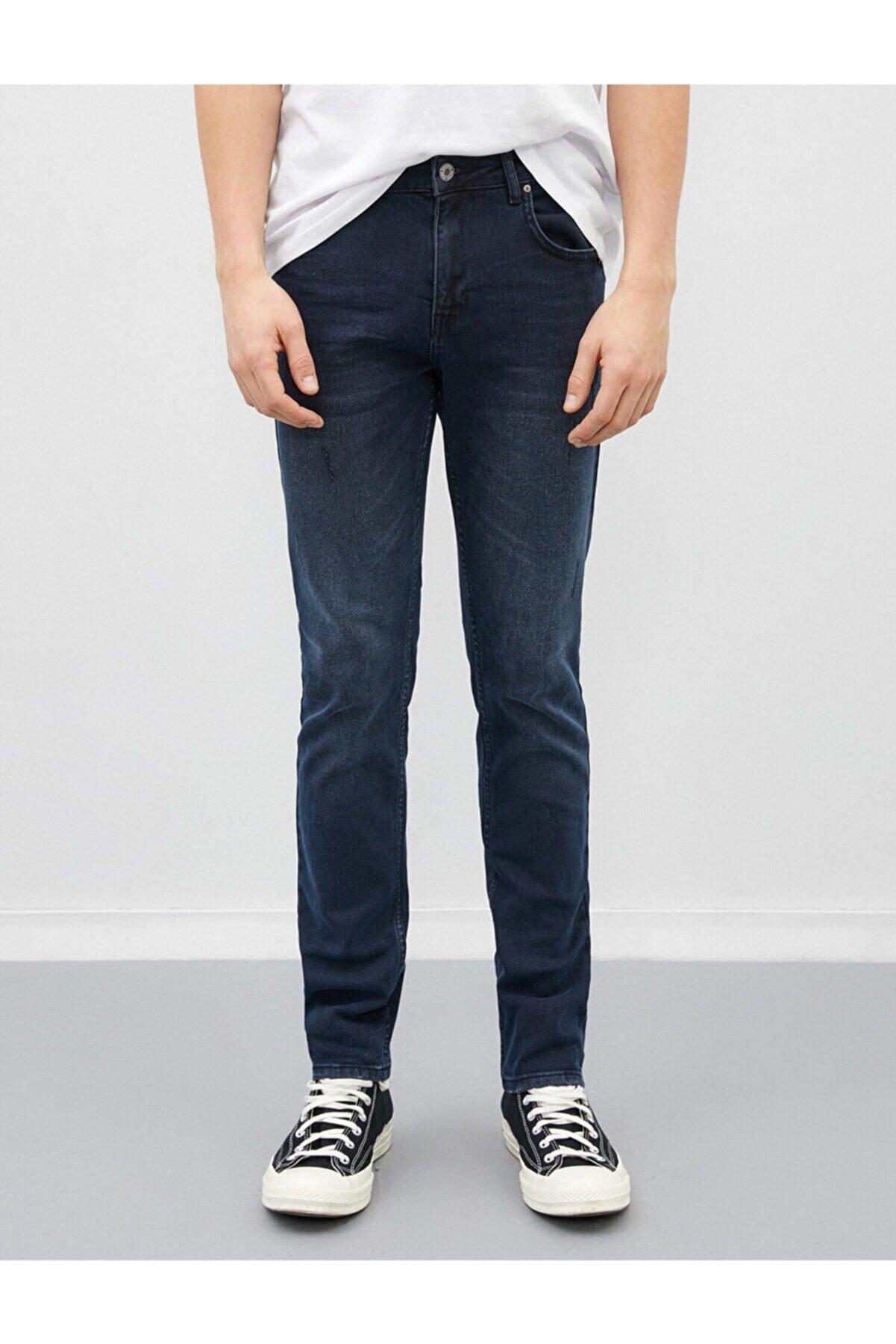 Koton Erkek Slim Fit Jean Pantolon Lacivert