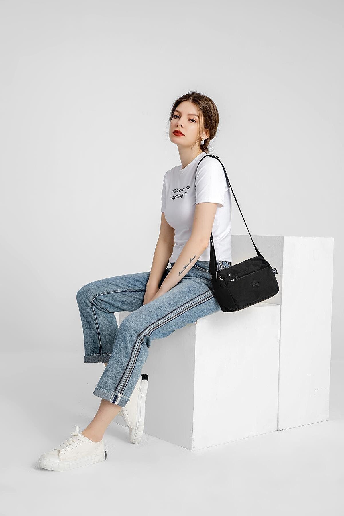 Smart Bags Smbyb1006-0001 Siyah Kadın Çapraz Çanta