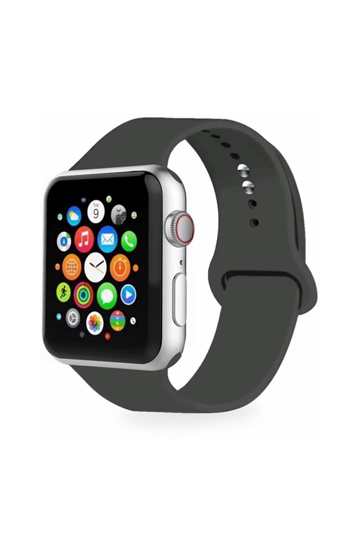 Cimricik Apple Watch Uyumlu Kordon 2 3 4 5 Seri 38 mm Ve 40 mm Silikon Kordon Kayış