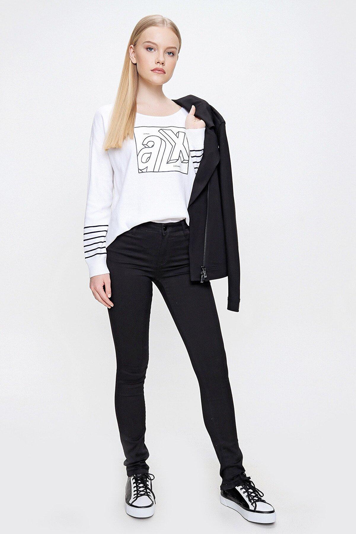 Armani Exchange Kadın Siyah Pantolon