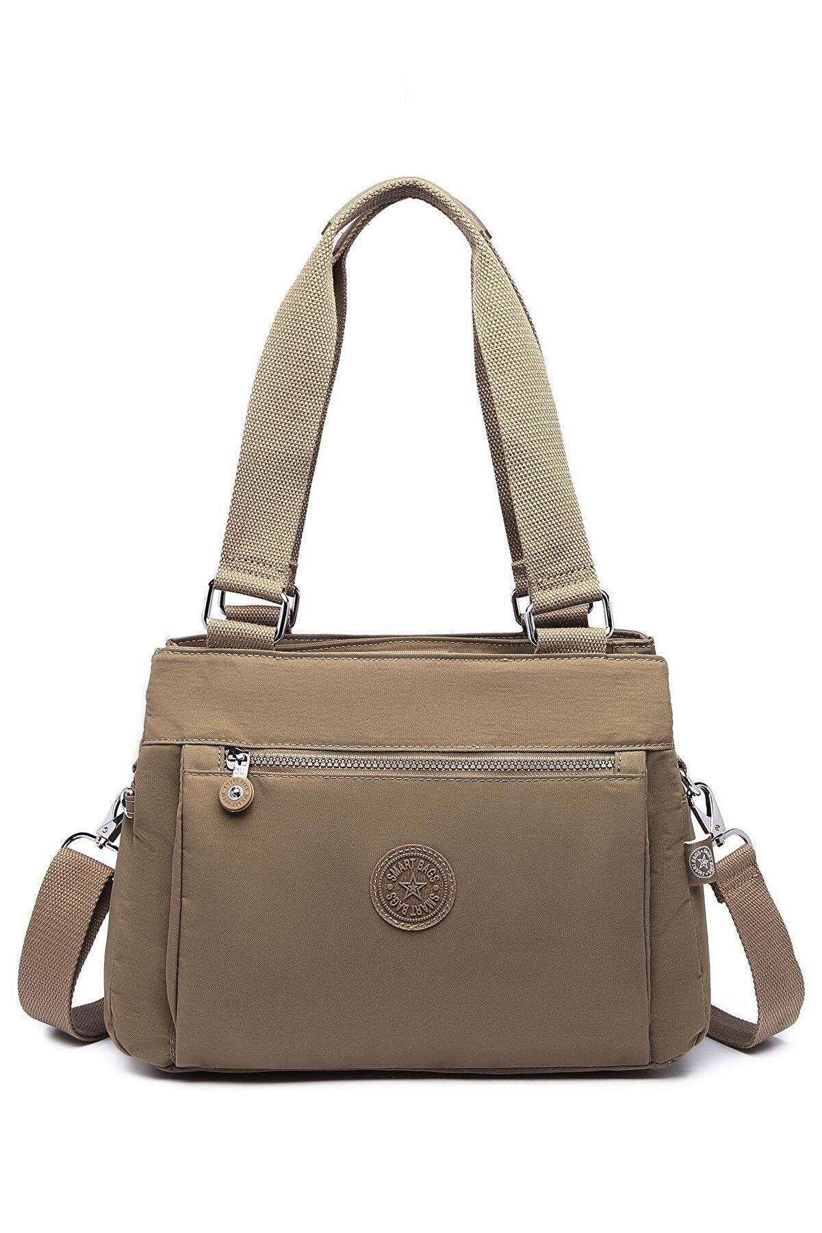 Smart Bags Smbyb1125-0007 Açık Kahverengi Kadın Omuz Çantası