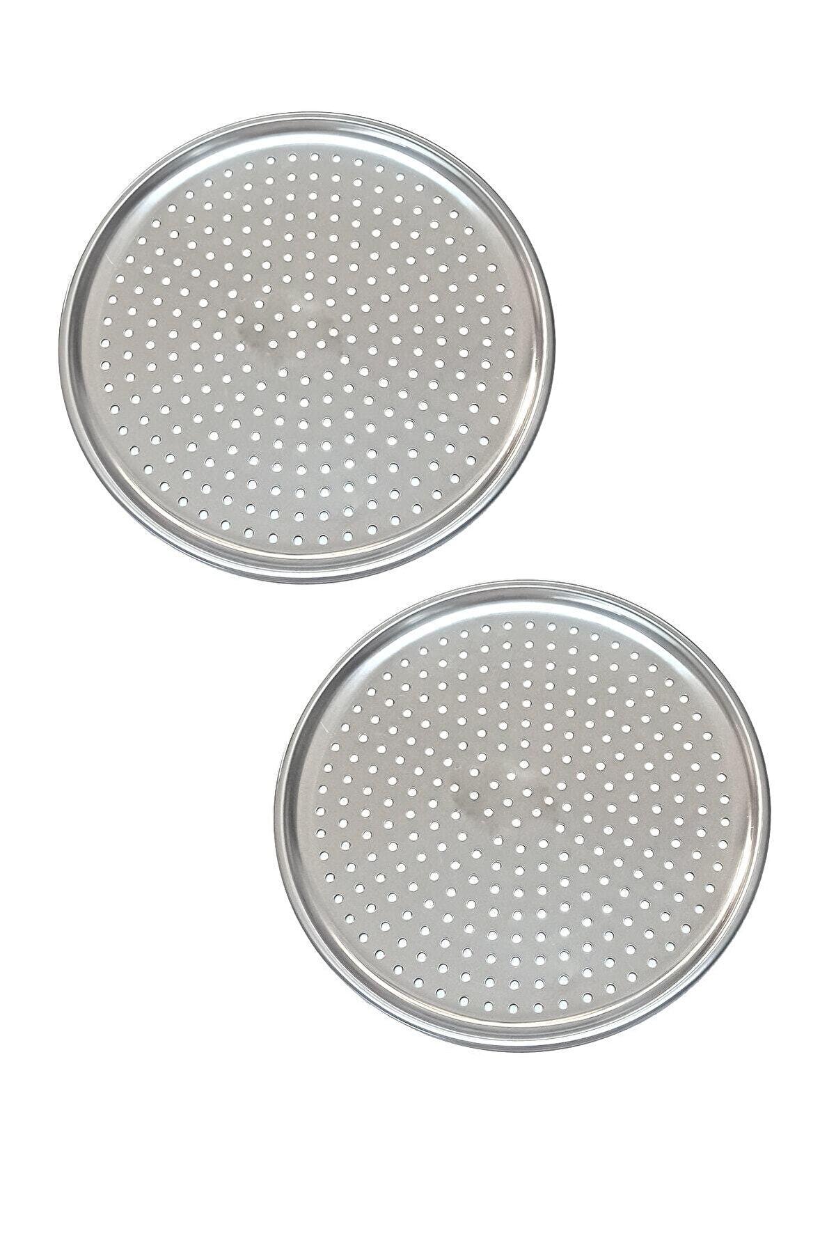 Vipkitchen 2'li Çelik Lüx Delikli Pizza Tepsisi 24 Cm