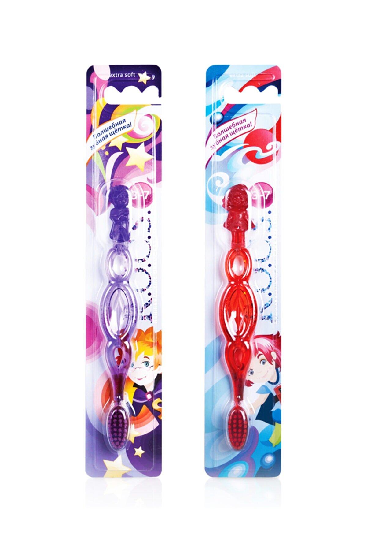 R.O.C.S. Kids 3-7 Yaş Diş Fırçası-2 Adet Mor Ve Kırmızı