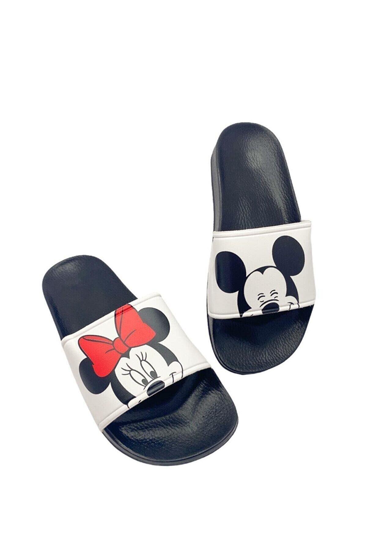 Gezer Mickey Mouse Densenli Kadın - Çocuk Terlik