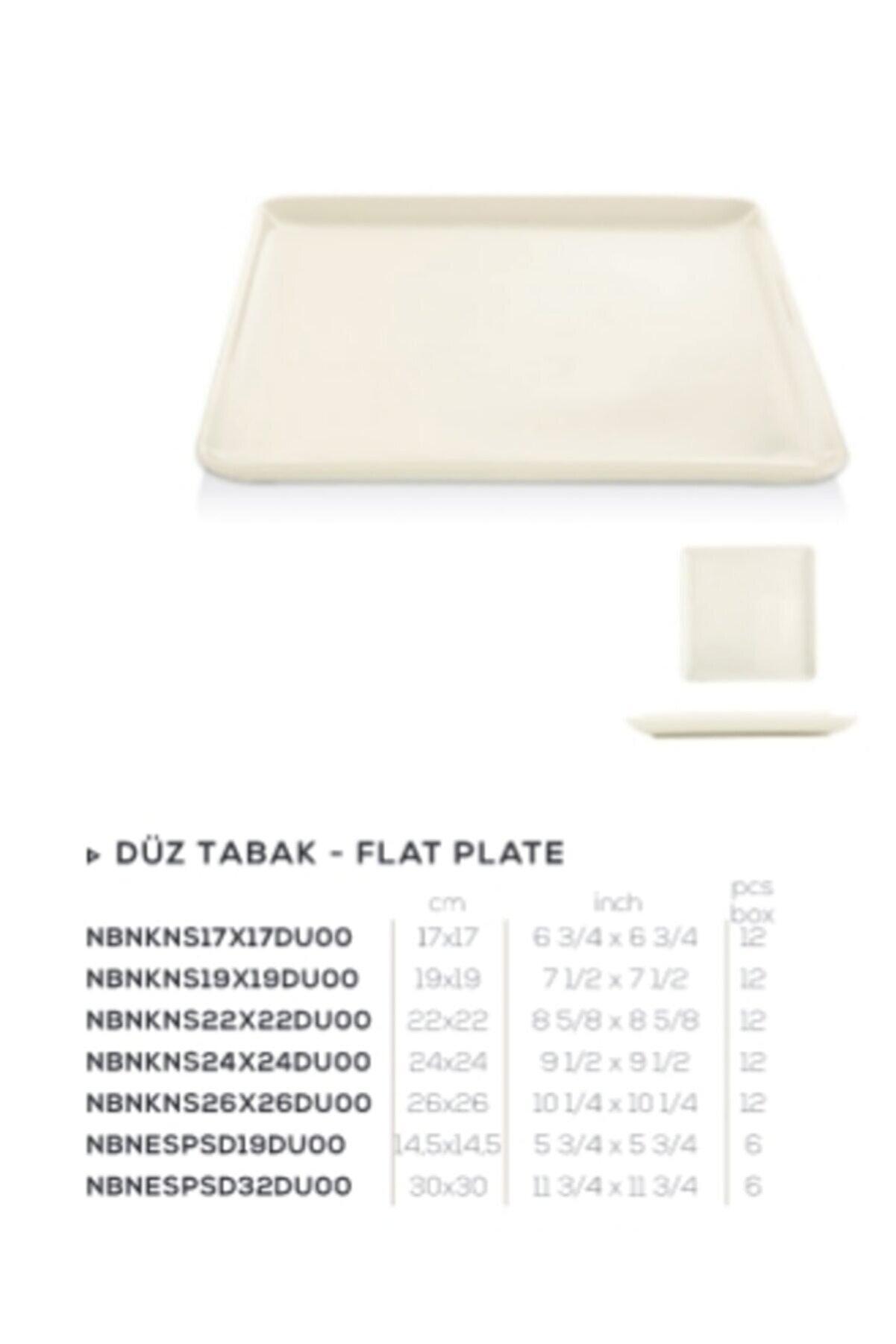 Güral Porselen Gbs Bone Kansas 26x26cm.duz Tabak Gbskns26x26du00