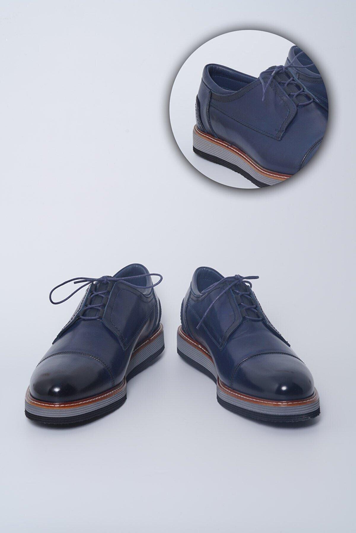 Buffalo Milano El Yapımı Lacivert Casual Ayakkabı