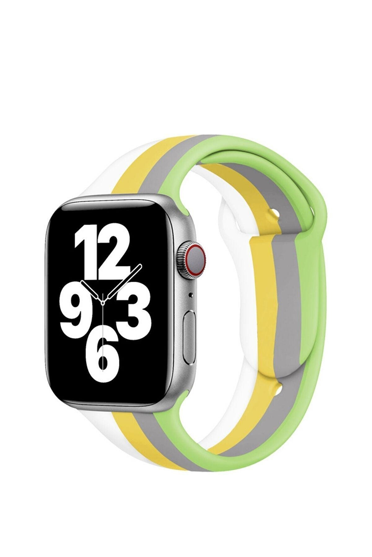 KVK PRİVACY Apple Watch 1-2-3-4-5-6-se Serisi ( 38mm - 40mm ) Uyumlu Renki Yeni Silikon Kordon