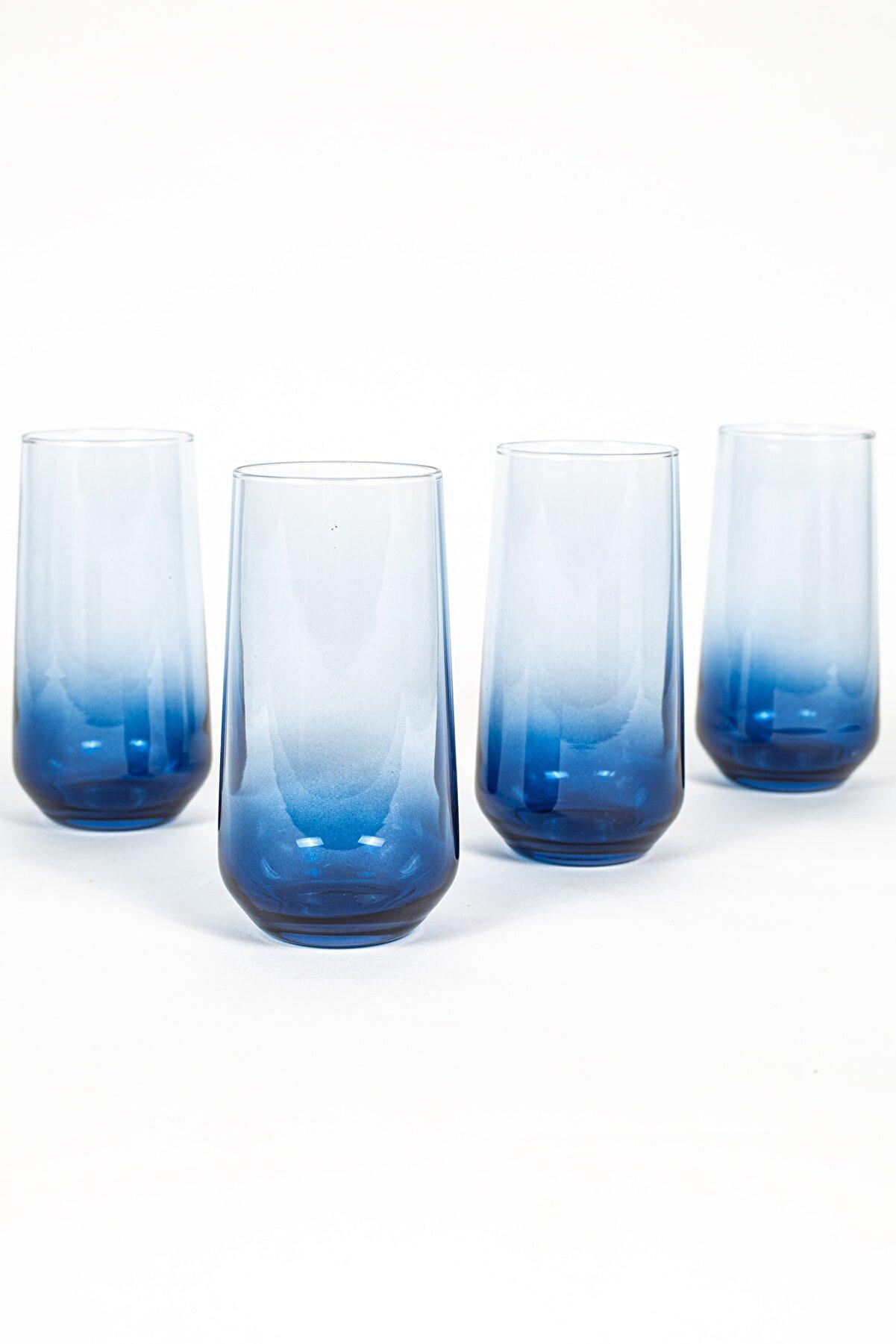 Rakle New Iconic 4'lü Meşrubat Bardağı Seti Mavi 470 Cc