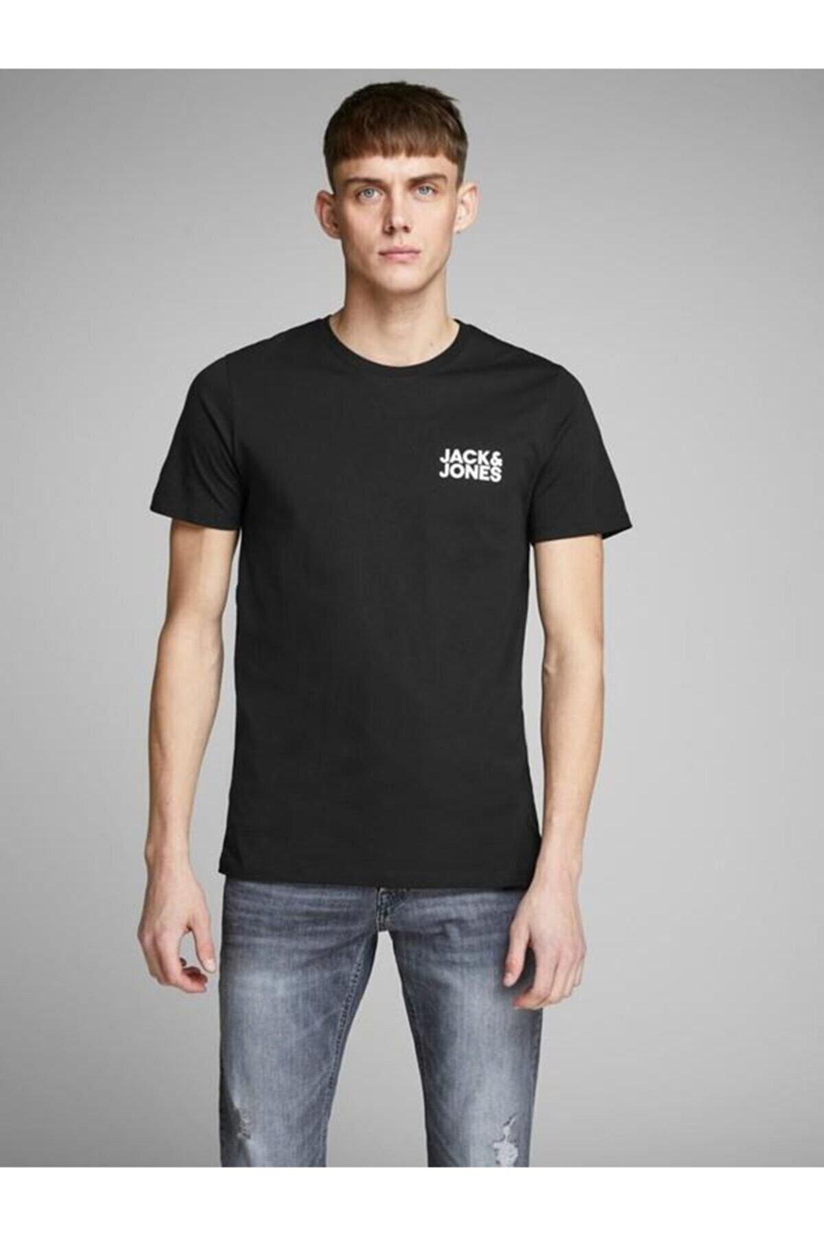 Jack & Jones Erkek Baskılı T Shirt 12151955