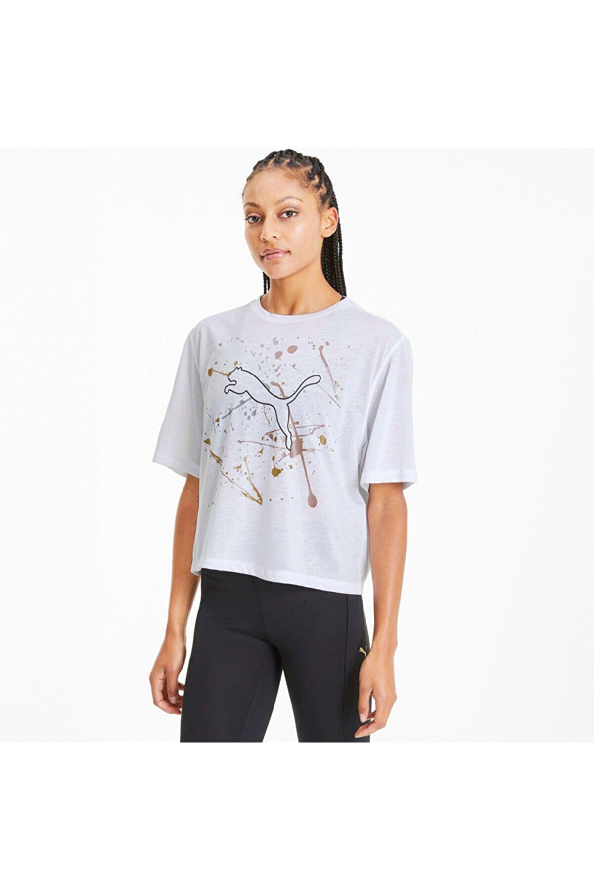 Puma Metal Splash Desenli Antrenman Kadın T-Shirt