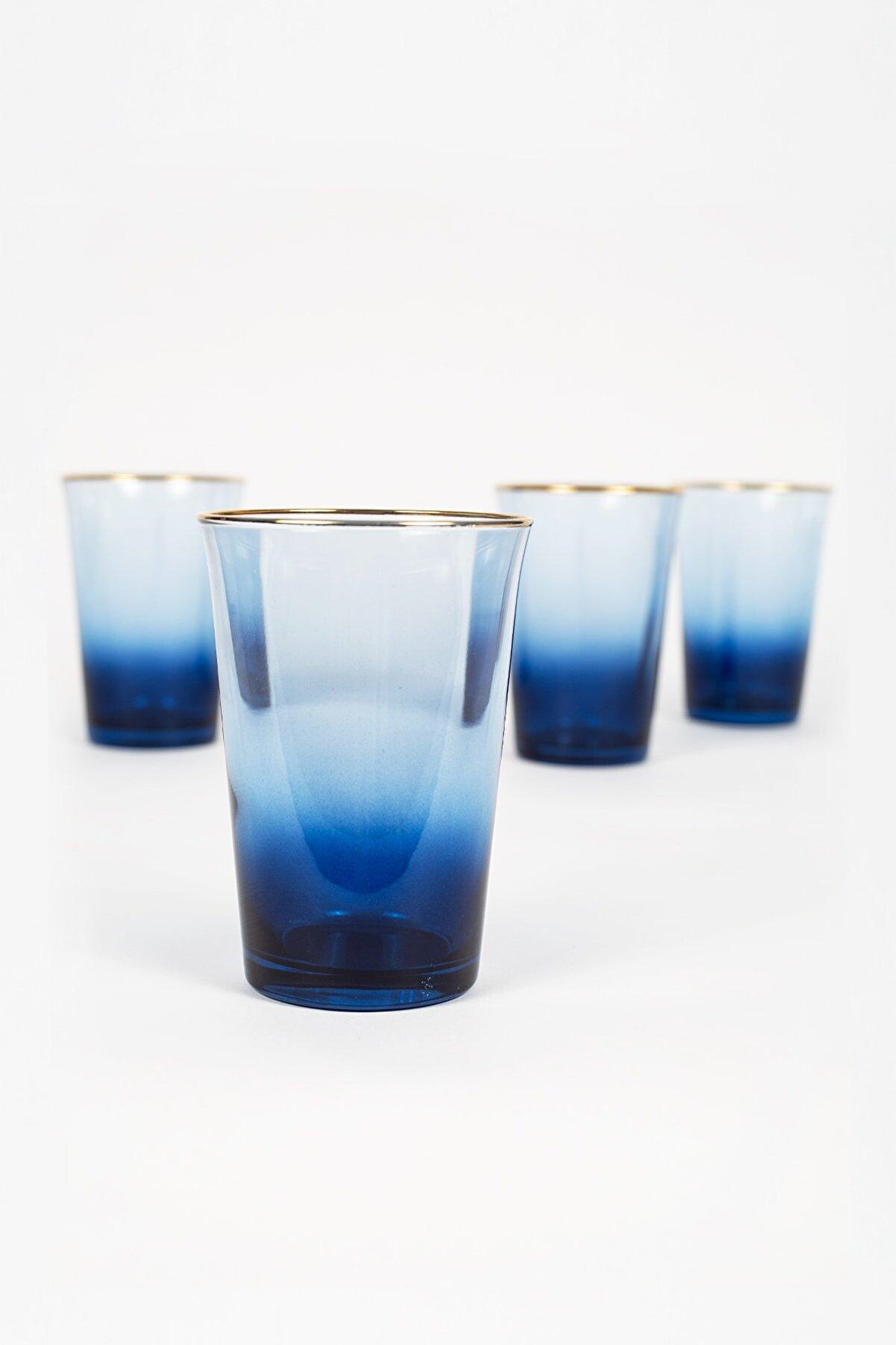 Rakle Gold Iconic 4'lü Su Bardağı Seti Mavi 290 Cc