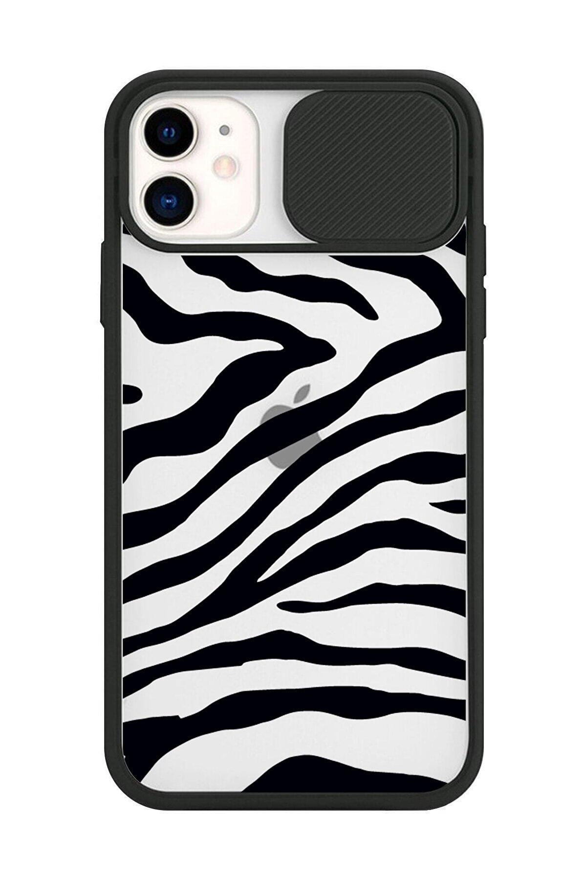 CNSTAKI Iphone 11 Uyumlu  Siyah Kamera Lens Korumalı Tasarımlı Telefon Kılıfı