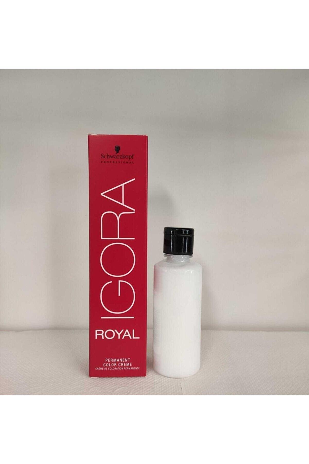Schwarzkopf Igora Royal Saç Boyası No: 4-65 Kahve Çikolata Altın 60ml + Orjinal Oksidanı Ile (emülsiyon) 60 Ml