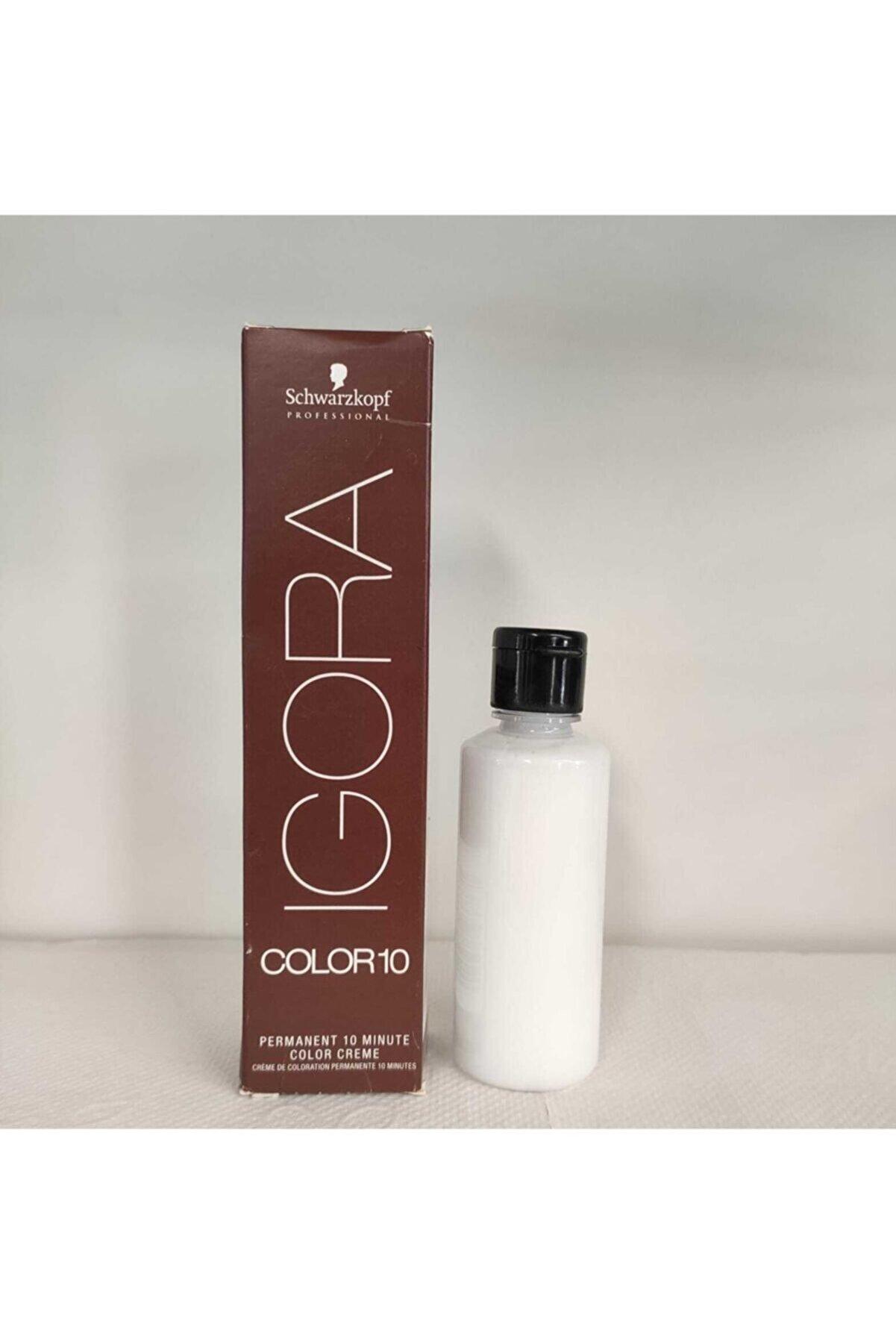 Schwarzkopf Sch Igora Color 10 9-12 Ekstra Açık Sarı Sandre Kül Boya + Oksidanı Ile (Emülsiyon) 60 Ml